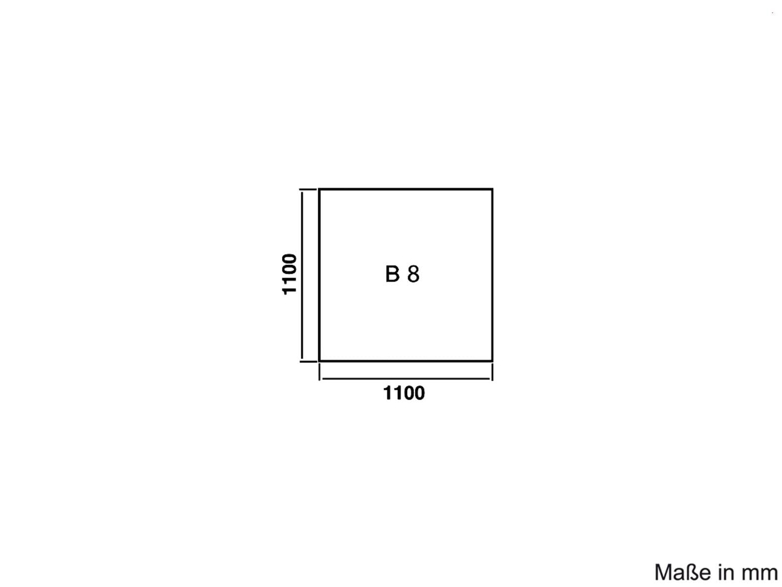 Justus Unterlegplatte Glas B8 Quadrat 9201 67