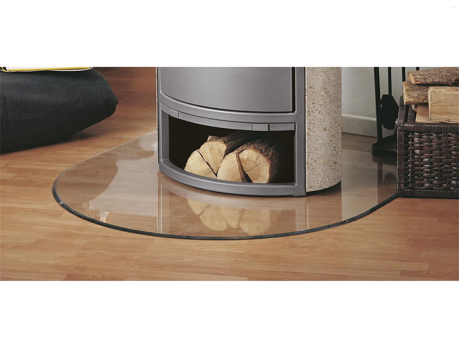 Justus Unterlegplatte Glas mit Loch B3 Rundbogen 9201 99