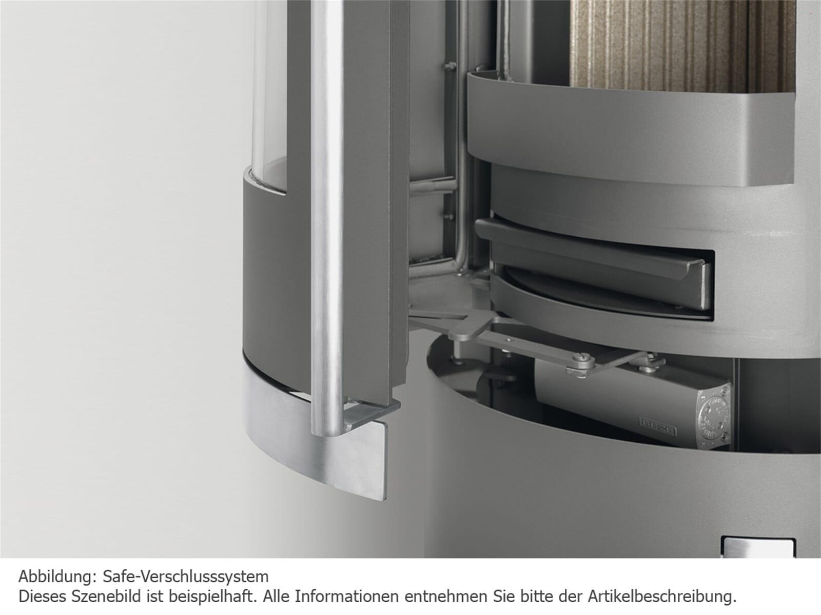 Justus Faro Aqua - 1250 53 Kaminofen Stahl Schwarz