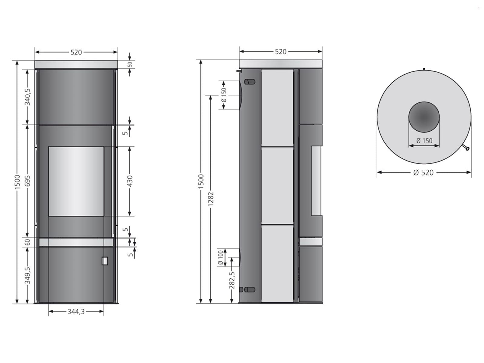 justus faro plus 4693 10 kaminofen stahl schwarz mit abdeckplatte. Black Bedroom Furniture Sets. Home Design Ideas