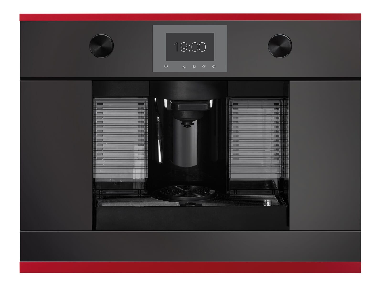 Küppersbusch CKK 6350.0 S8 K-Series.3 Kaffee-Kapselautomat Schwarz/Hot Chil für Nespresso® Kapseln