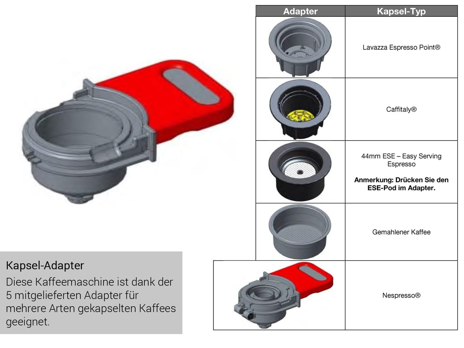 Küppersbusch CKK 6350.0 S5 K-Series.3 Kaffee-Kapselautomat Schwarz/Black Velvet für Nespresso® Kapseln