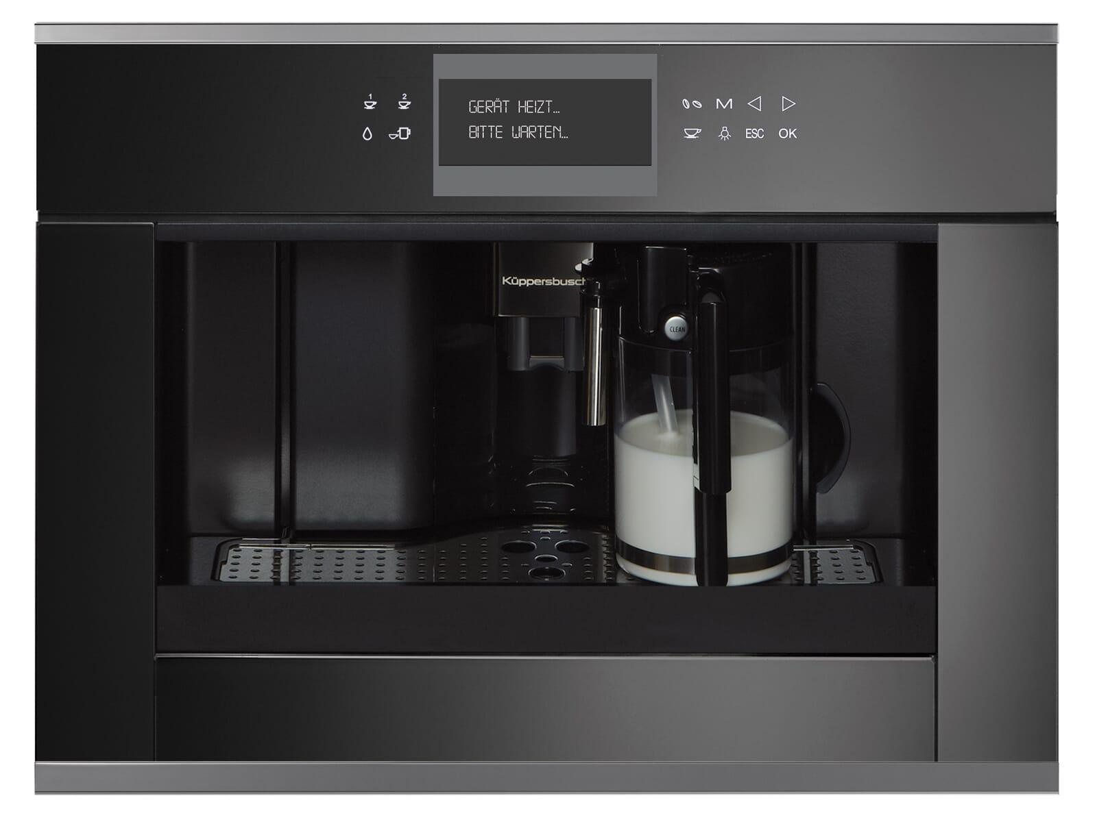 Küppersbusch CKV 6550.0 S3 K-Series. 5 Einbau-Espresso-/Kaffeevollautomat Schwarz/Silver Chrome
