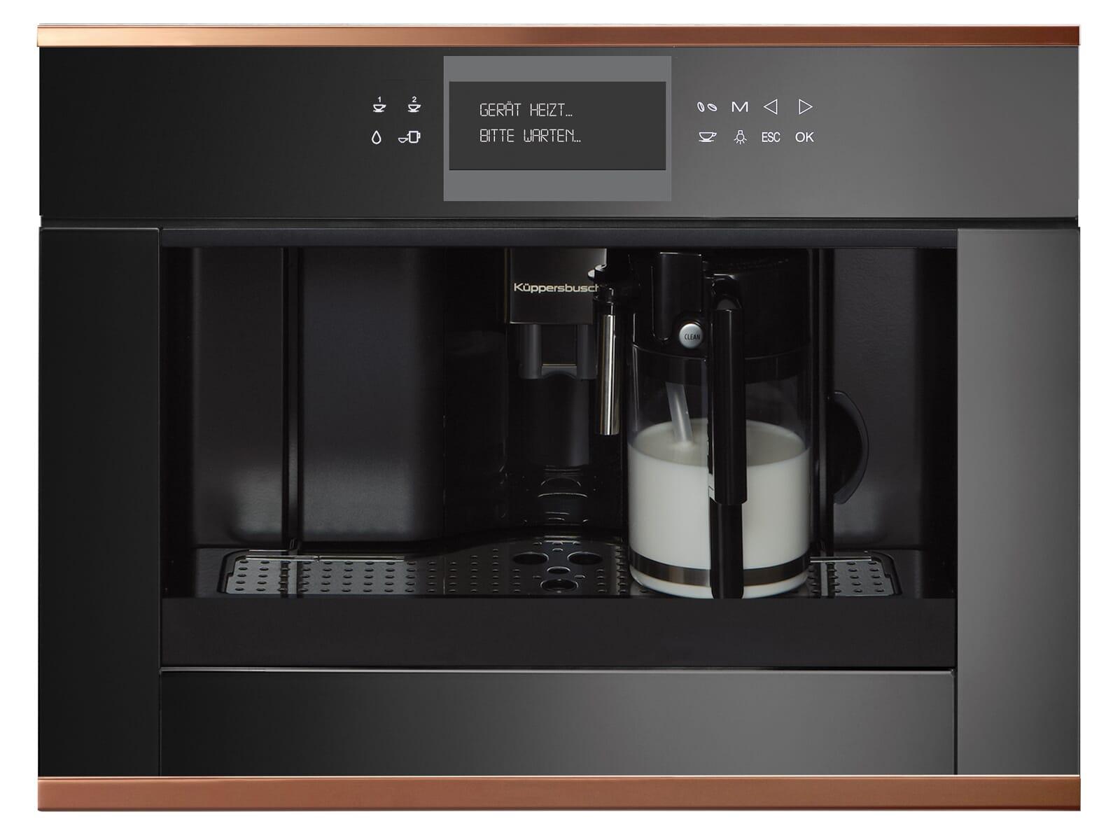 Küppersbusch CKV 6550.0 S7 K-Series. 5 Einbau-Espresso-/Kaffeevollautomat Schwarz/Copper