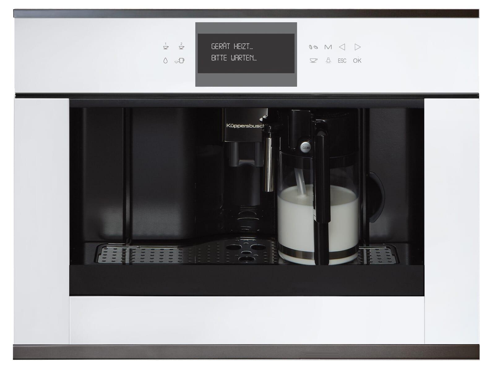Küppersbusch CKV 6550.0 W2 K-Series. 5 Einbau-Espresso-/Kaffeevollautomat Weiß/Black Chrome
