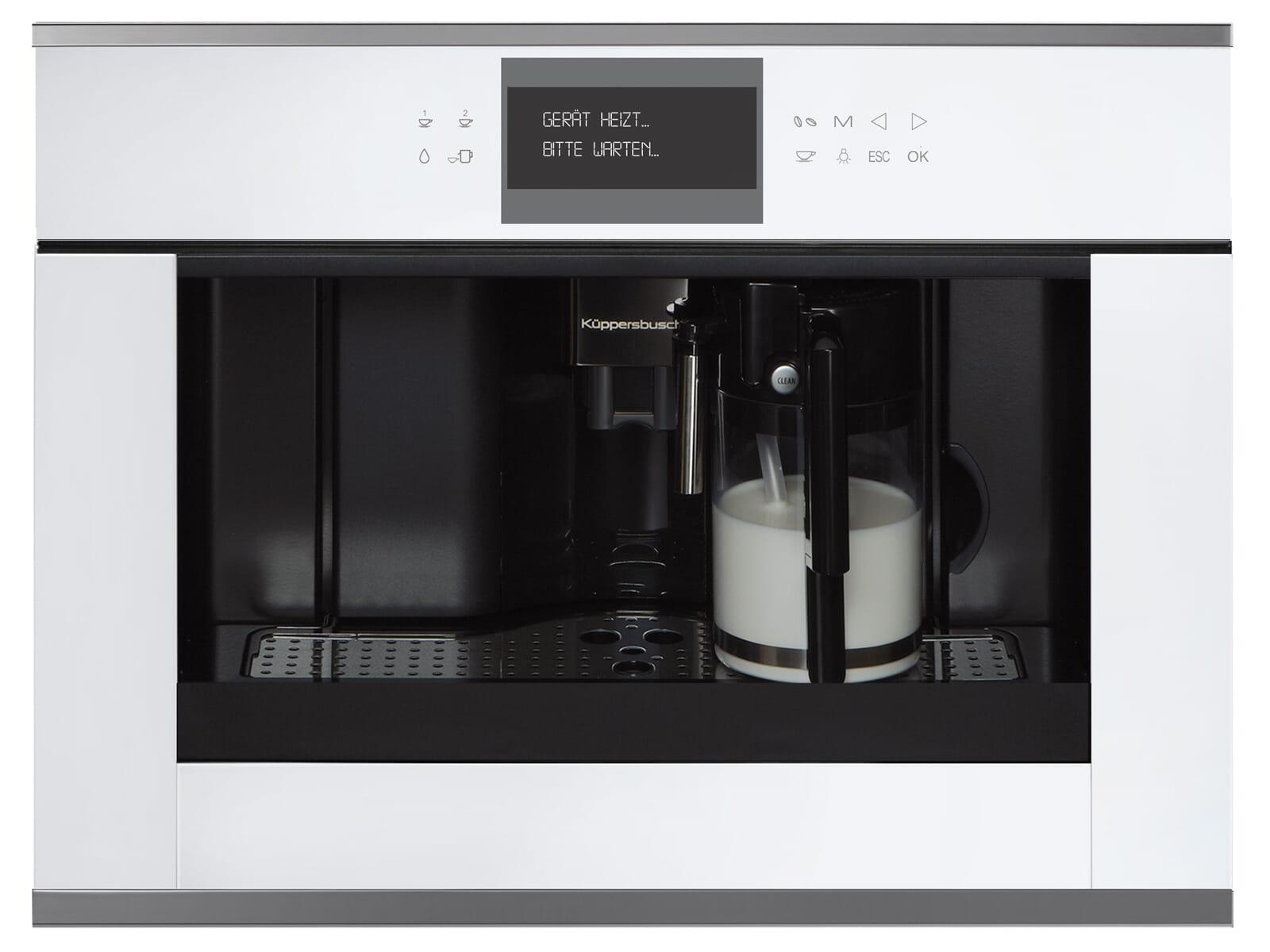 Küppersbusch CKV 6550.0 W3 K-Series. 5 Einbau-Espresso-/Kaffeevollautomat Weiß/Silver Chrome