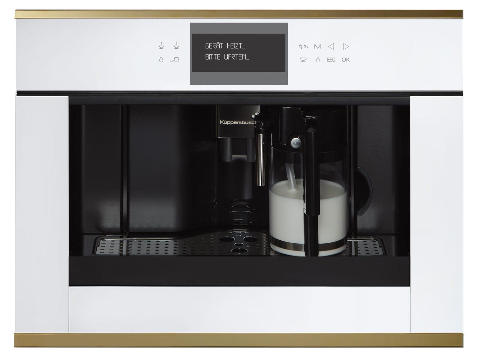 Küppersbusch CKV 6550.0 W4 K-Series. 5 Einbau-Espresso-/Kaffeevollautomat Weiß/Gold