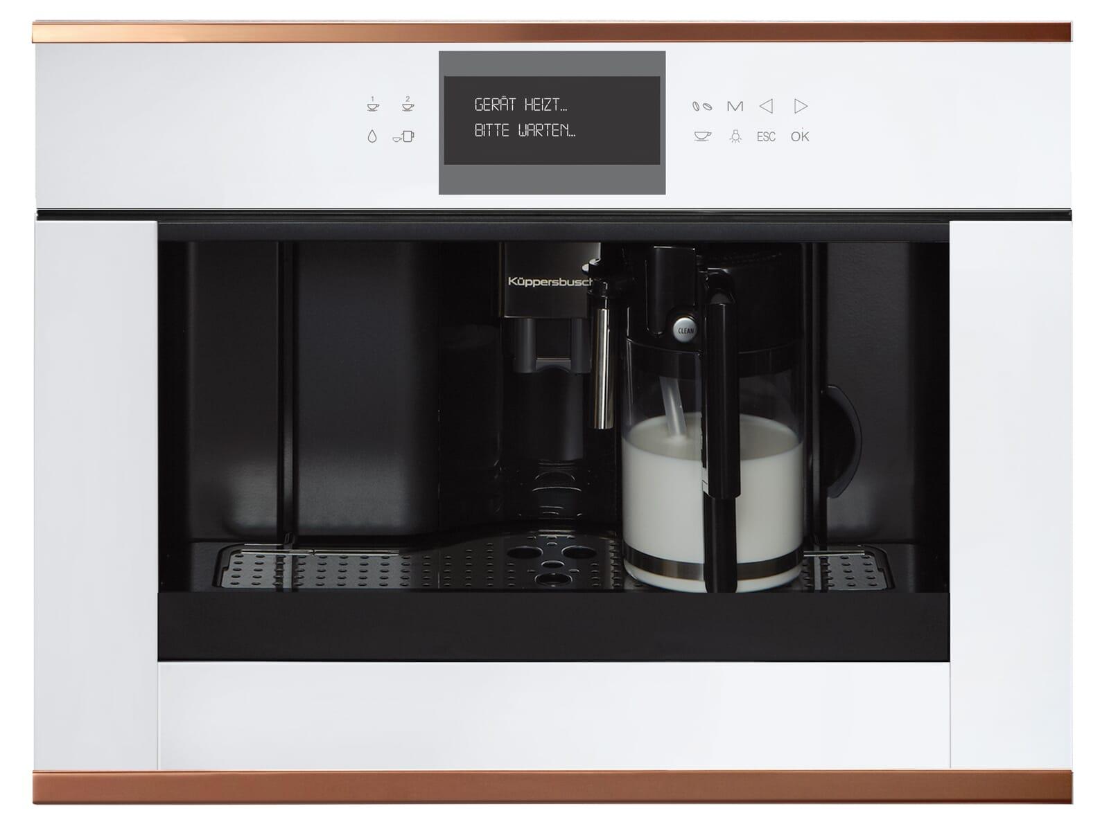 Küppersbusch CKV 6550.0 W7 K-Series. 5 Einbau-Espresso-/Kaffeevollautomat Weiß/Copper