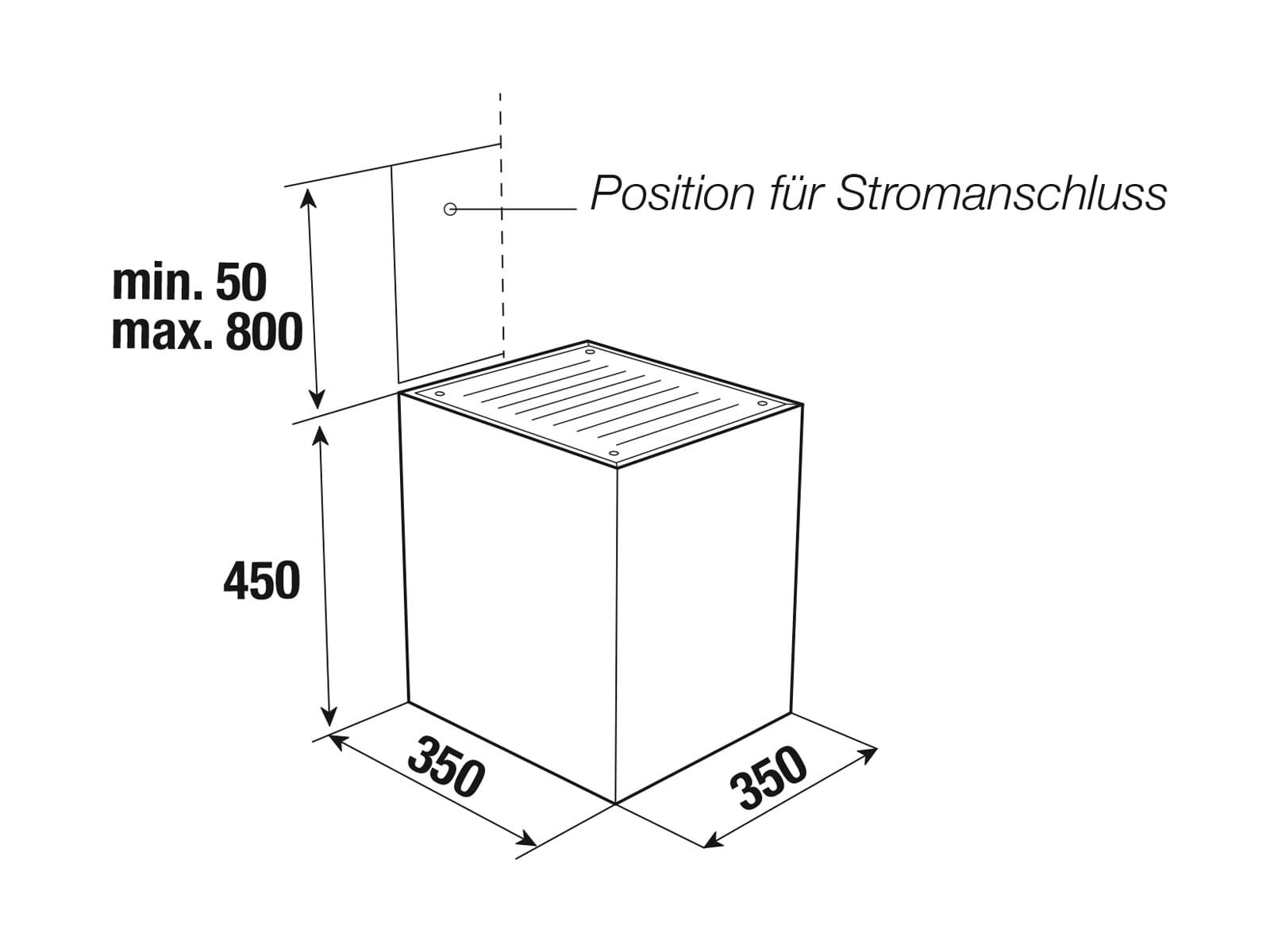Küppersbusch DW 3800.0 S K-Series. 8 Wandhaube 35 cm Schwarz/Edelstahl