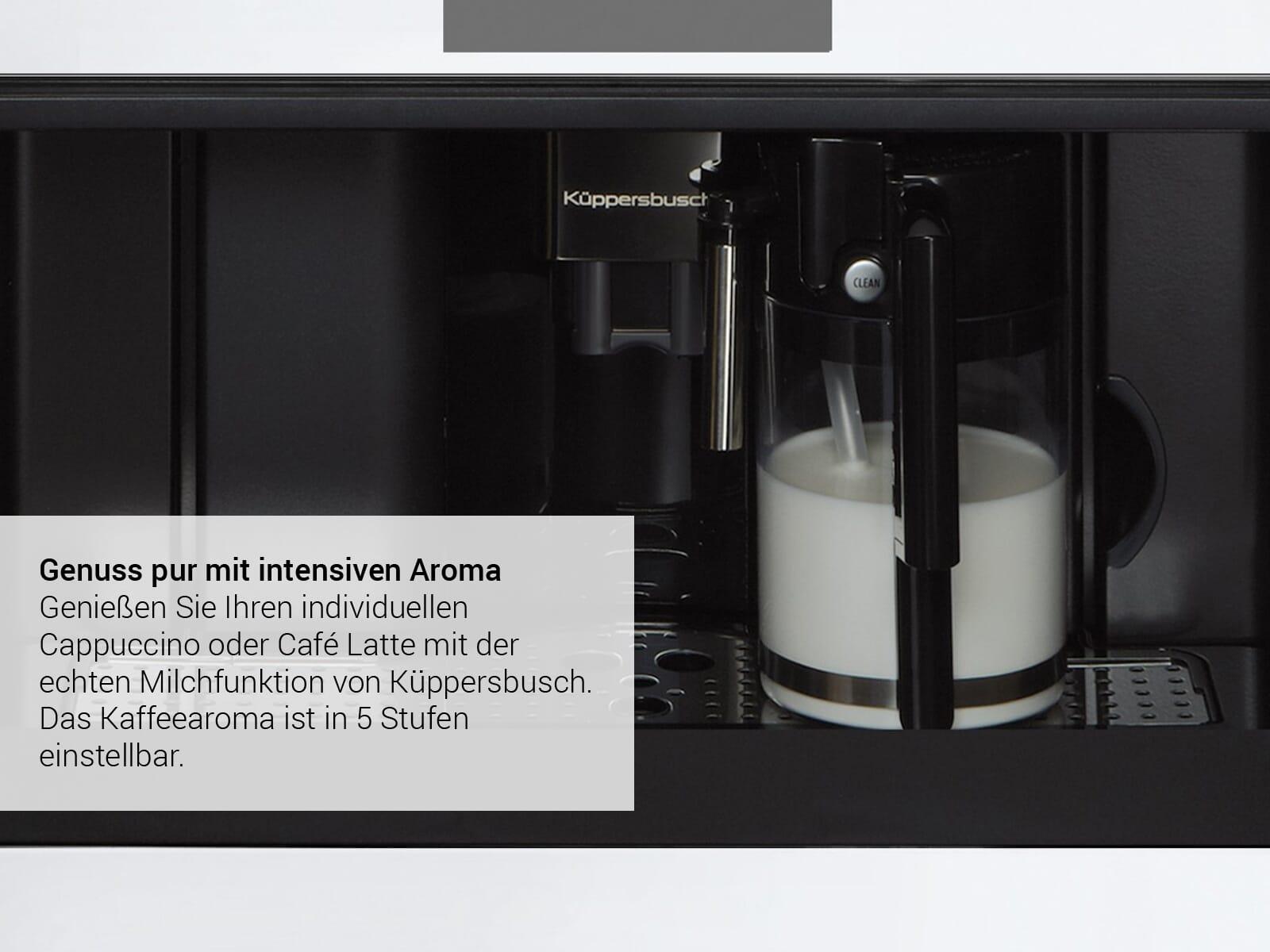 Küppersbusch CKV 6550.0 S8 K-Series. 5 Einbau-Espresso-/Kaffeevollautomat Schwarz/Hot Chili