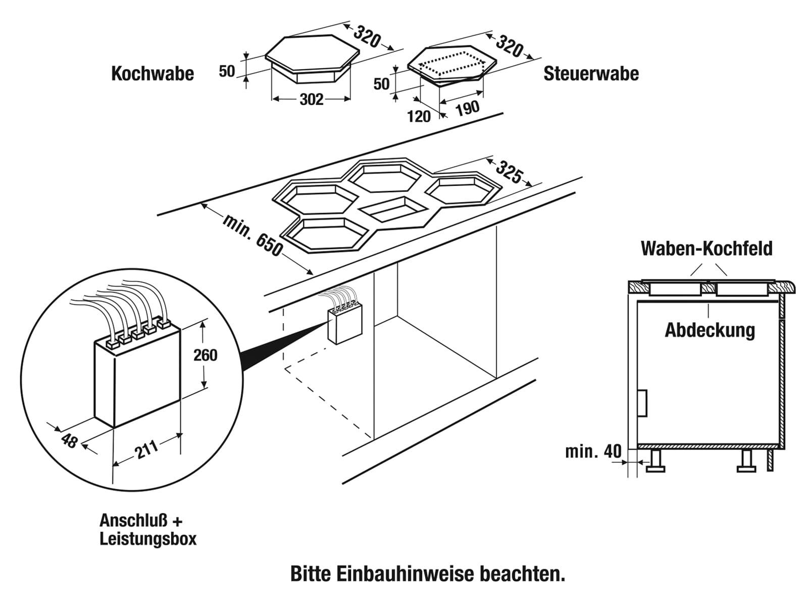 Küppersbusch EKWI 3740.0 S K-Series. 8 Induktionskochfeld autark