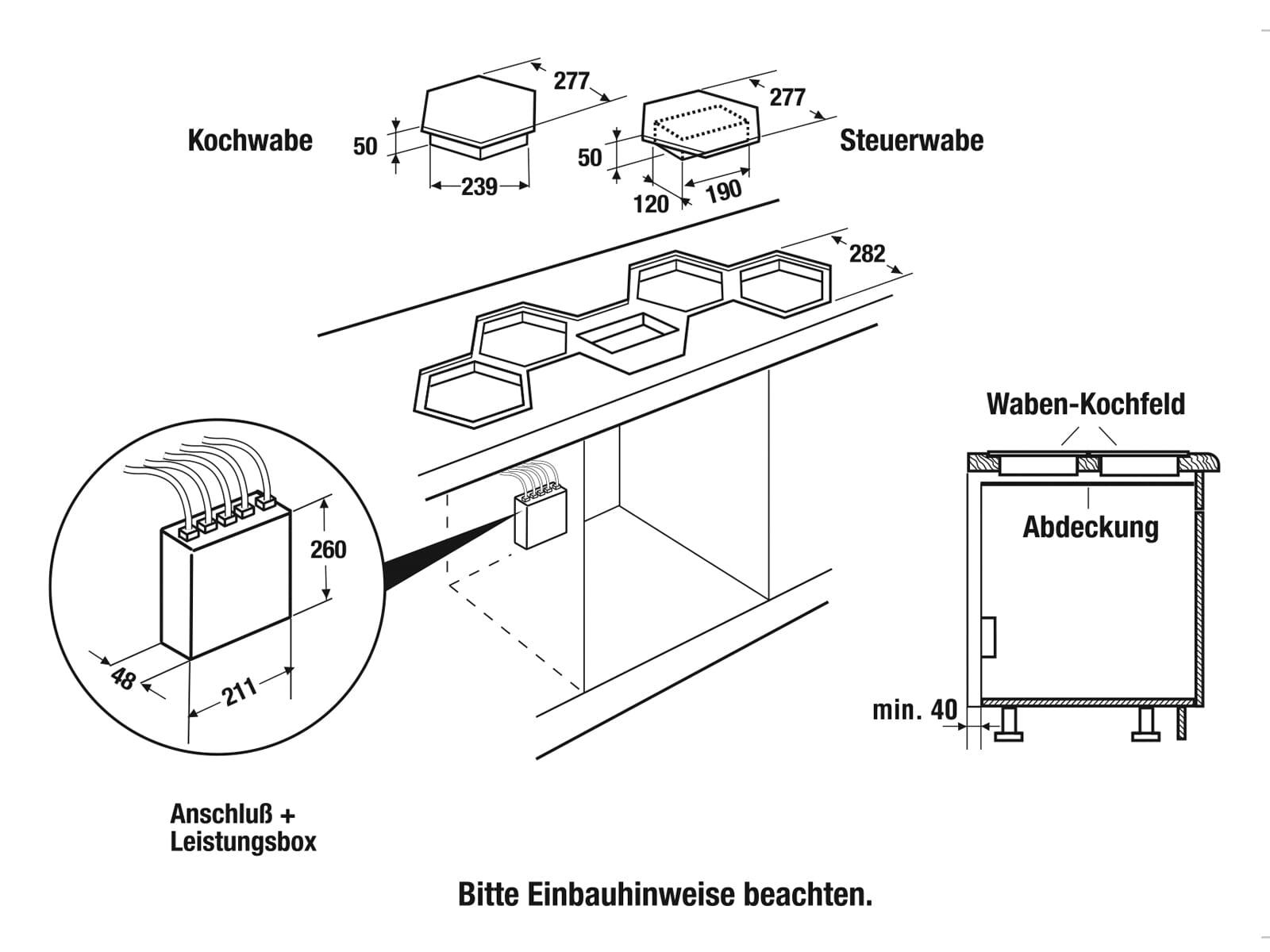 Küppersbusch EKWI 3740.0 W K-Series. 8 Induktionskochfeld autark