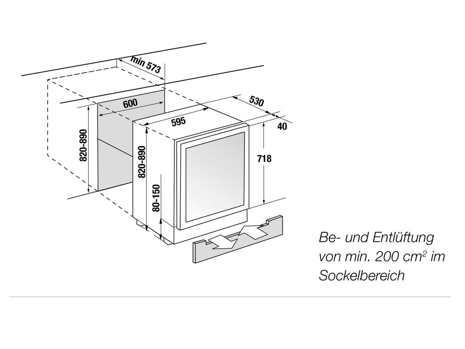 Küppersbusch FWKU 1800.0 S5 K-Series 8 Unterbau Weinklimaschrank Schwarz/Black Velvet