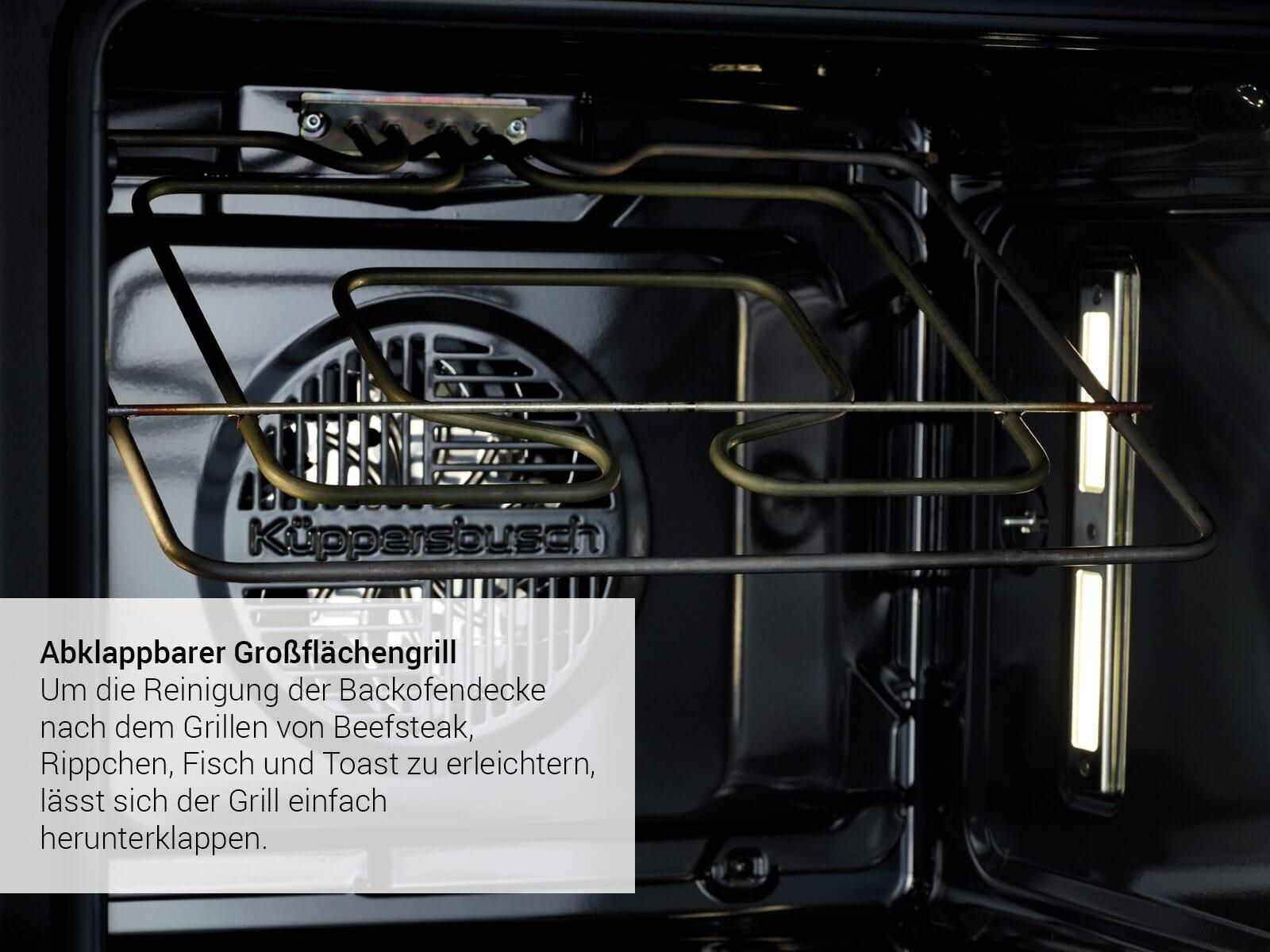 Küppersbusch B 6550.0 S8 Premium+ Backofen Schwarz/Hot Chili