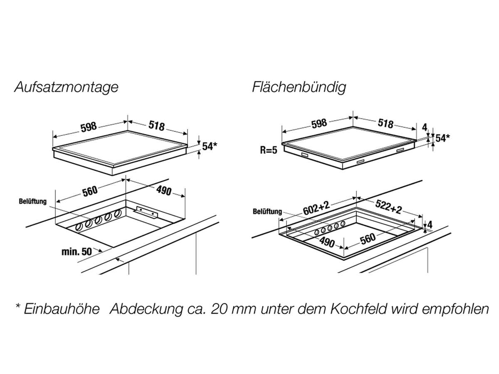Küppersbusch KI 6520.0 WR K-Series. 5 Induktionskochfeld autark