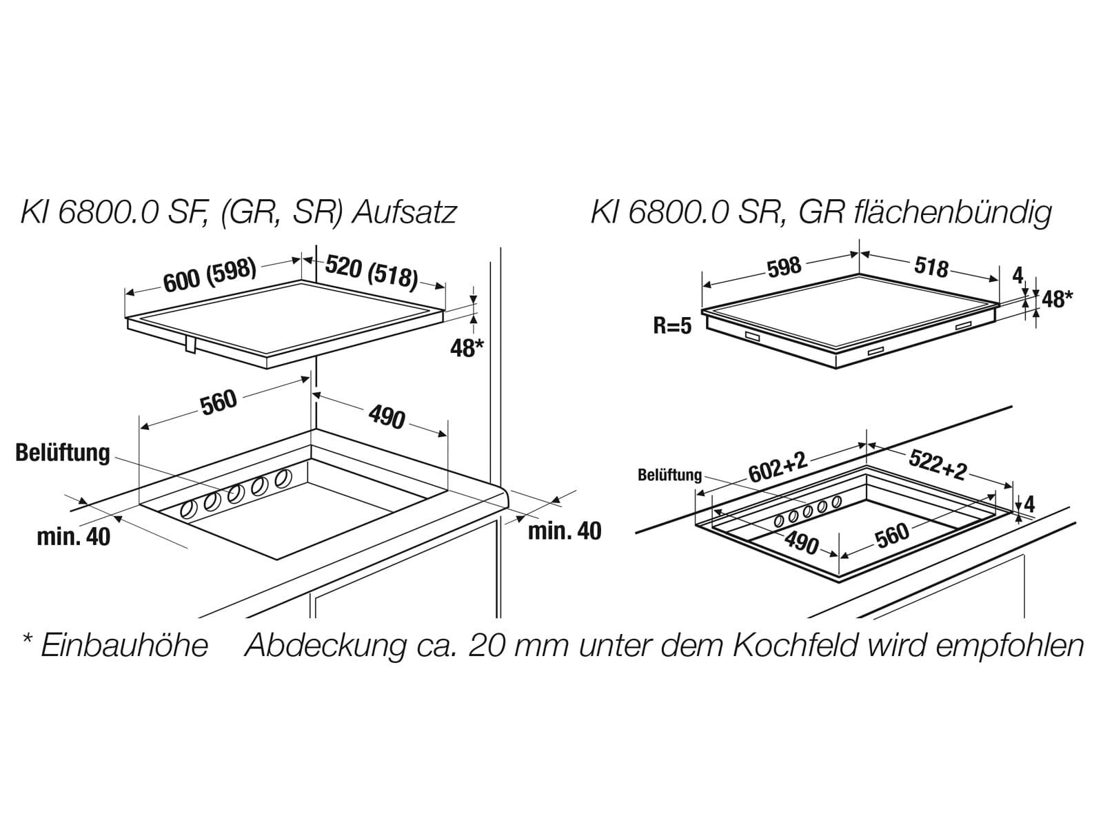 Küppersbusch KI 6800.0 GR K-Series. 8 Induktionskochfeld autark