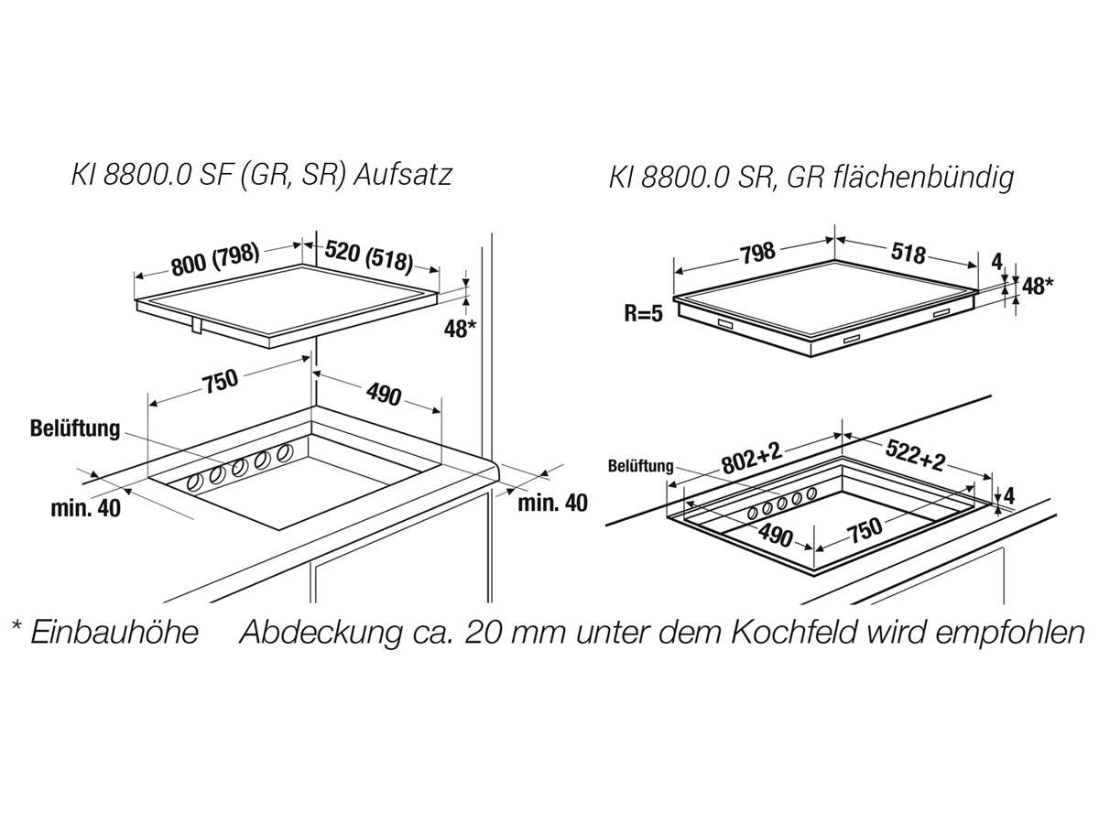 Küppersbusch KI 8800.0 SR K-Series. 8 Induktionskochfeld autark