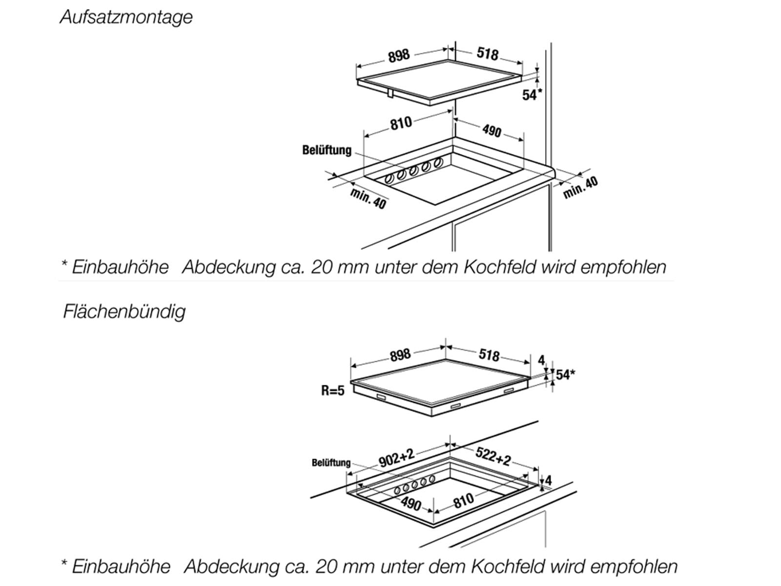 Küppersbusch KI 9560.0 SR K-Series. 5 Induktionskochfeld autark