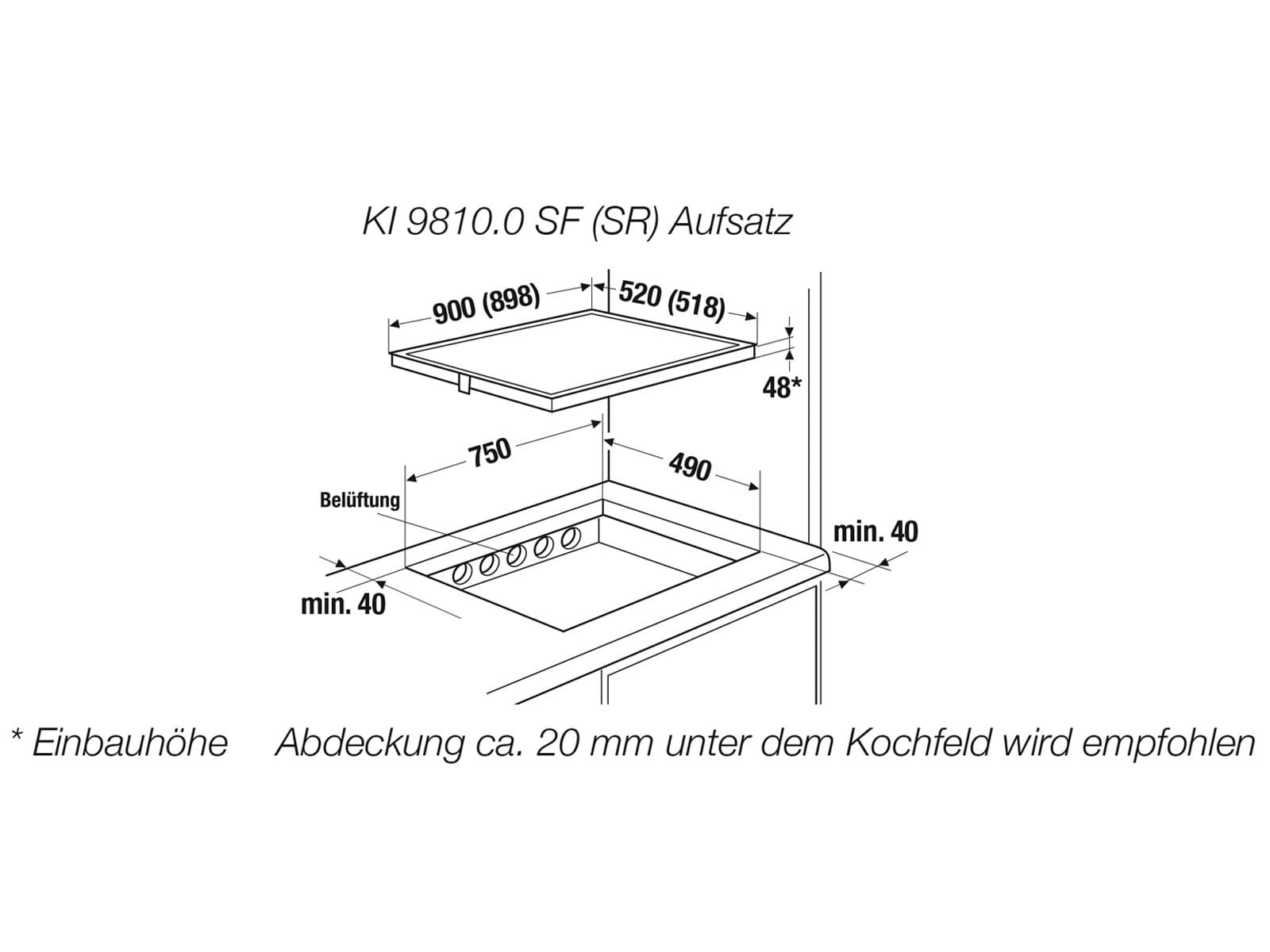 Küppersbusch KI 9810.0 SF K-Series. 8 Induktionskochfeld autark