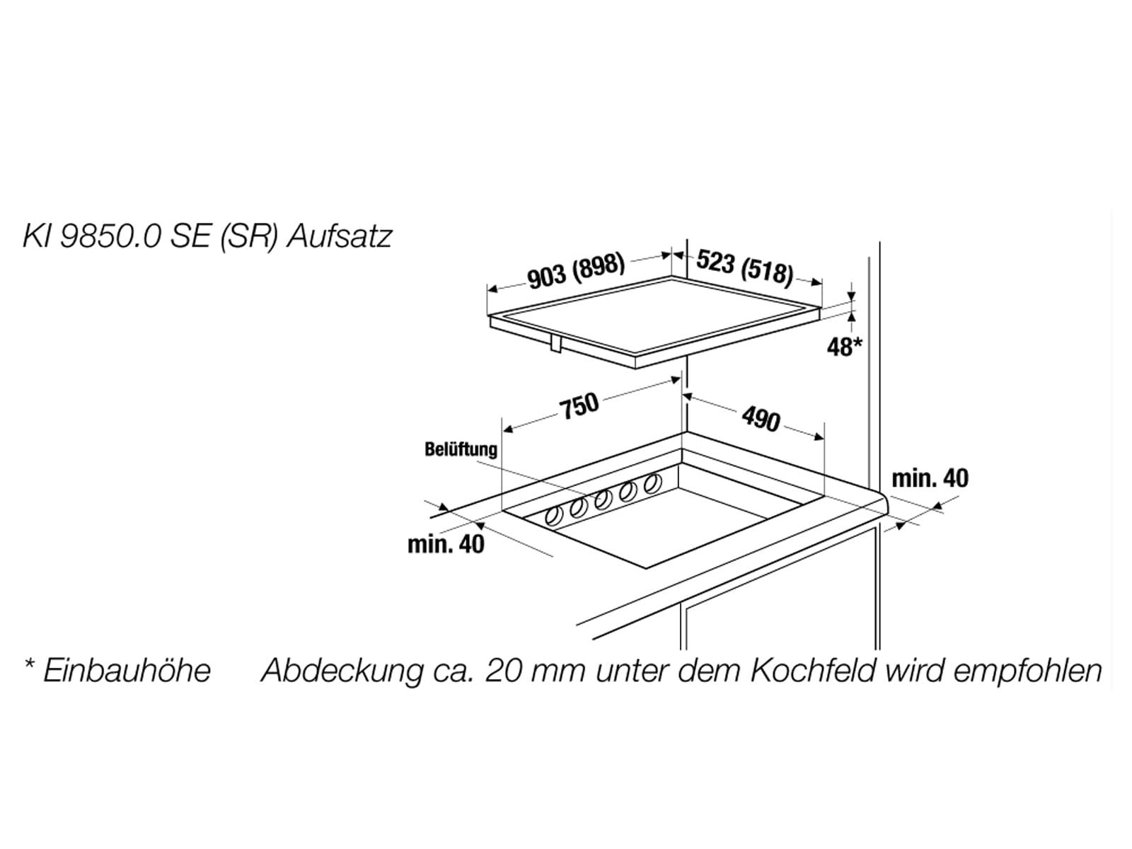 Küppersbusch KI 9850.0 SE K-Series. 8 Induktionskochfeld autark