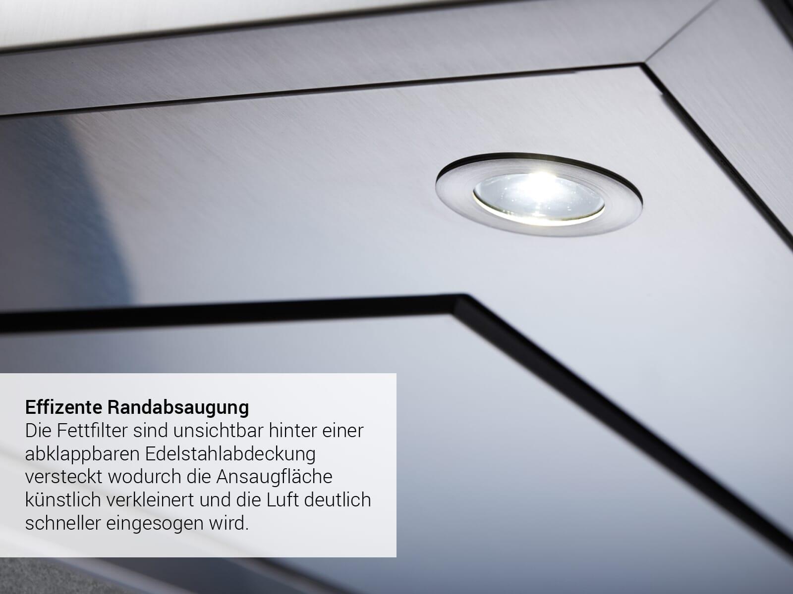 Küppersbusch DW 8500.0 S K-Series. 5 Kopffreihaube 80 cm Schwarz/Edelstahl