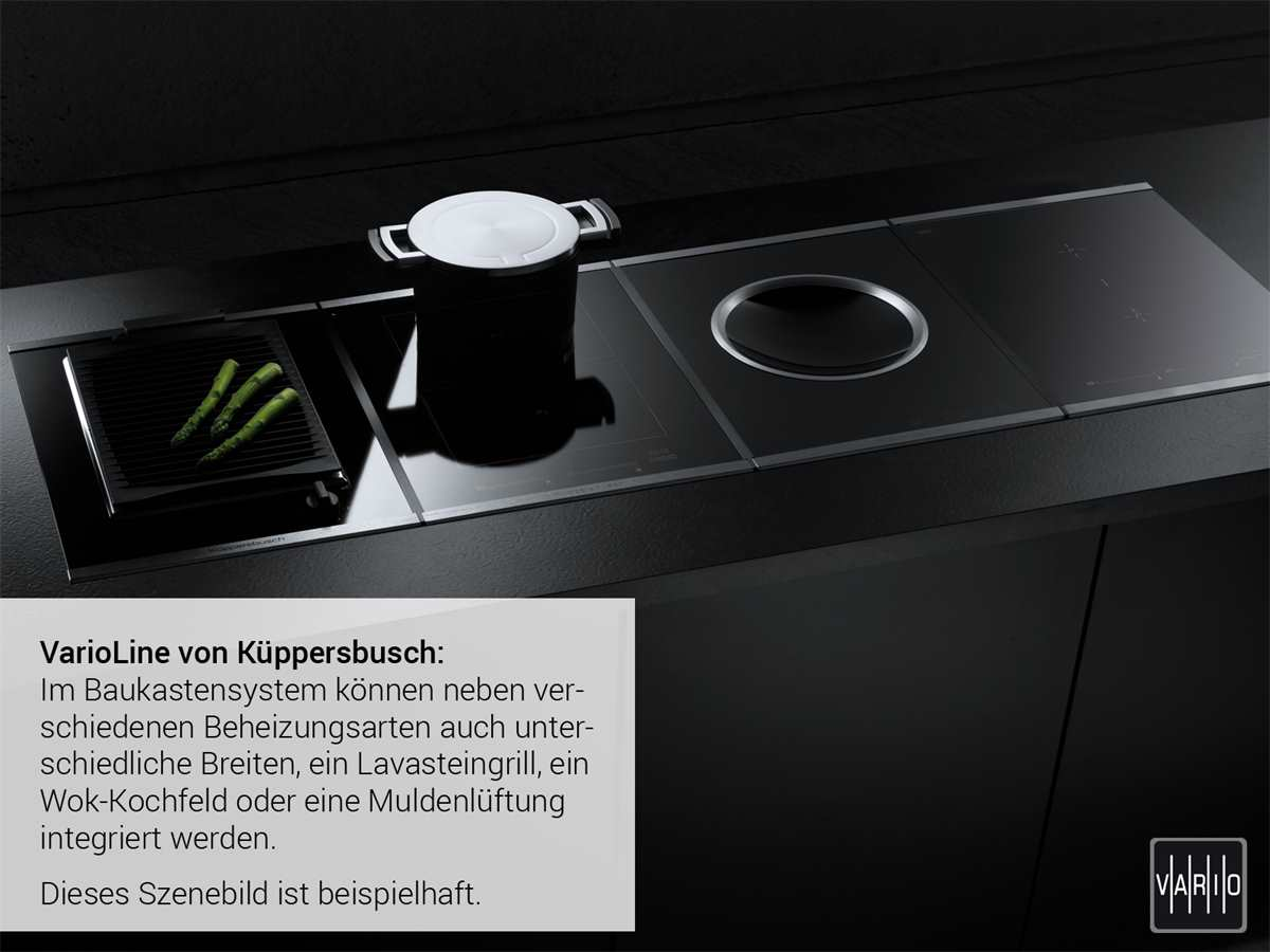Küppersbusch VKEL 3800.0 SR K-Series. 8 Domino Elektro Grill autark