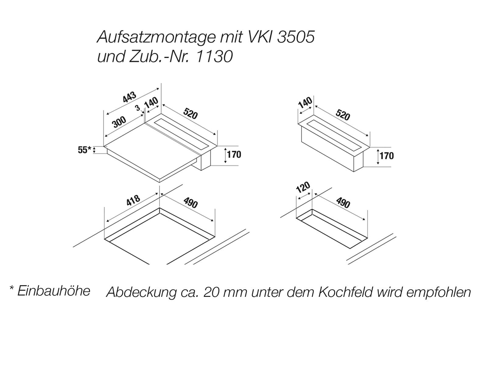 Küppersbusch VKM 1800.0 SR K-Series. 8 Kochfeldabzug