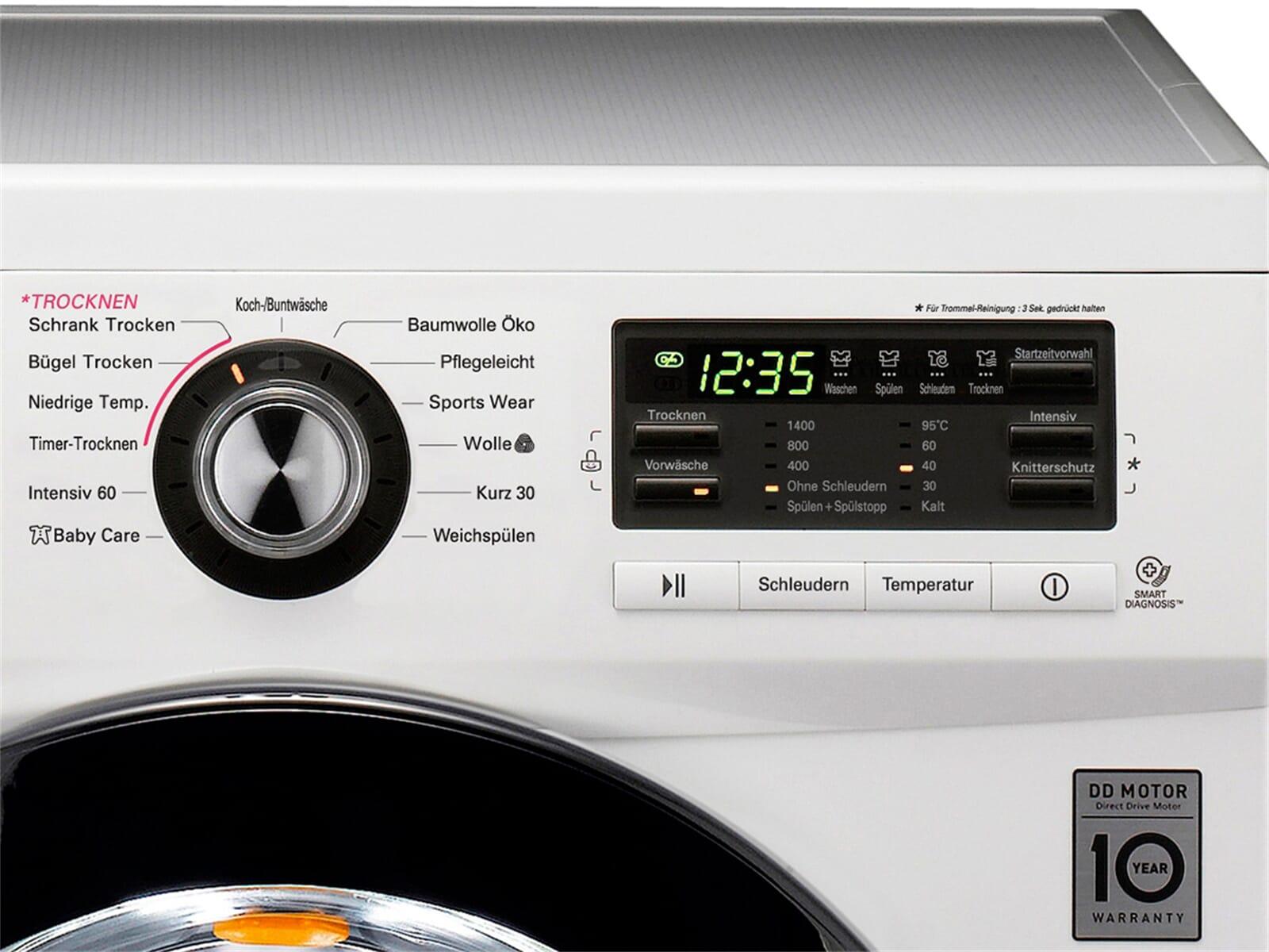 Lg f 1496 ad3 waschtrockner weiß