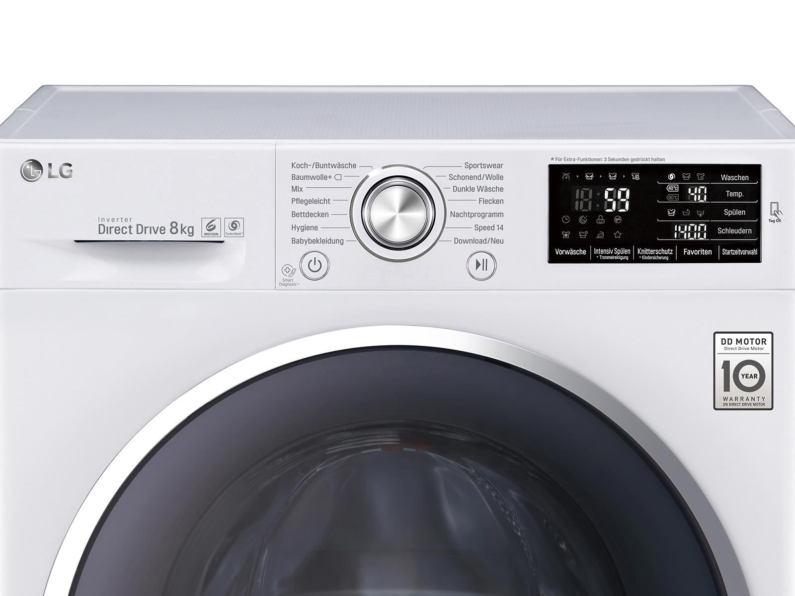 LG F 14U2 TCN2H Waschmaschine Weiß