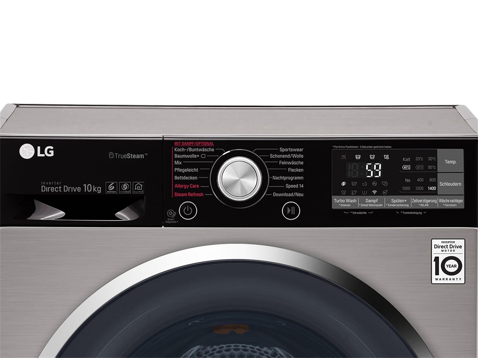 lg f 14wm 10tt6 waschmaschine noble steel ebay. Black Bedroom Furniture Sets. Home Design Ideas
