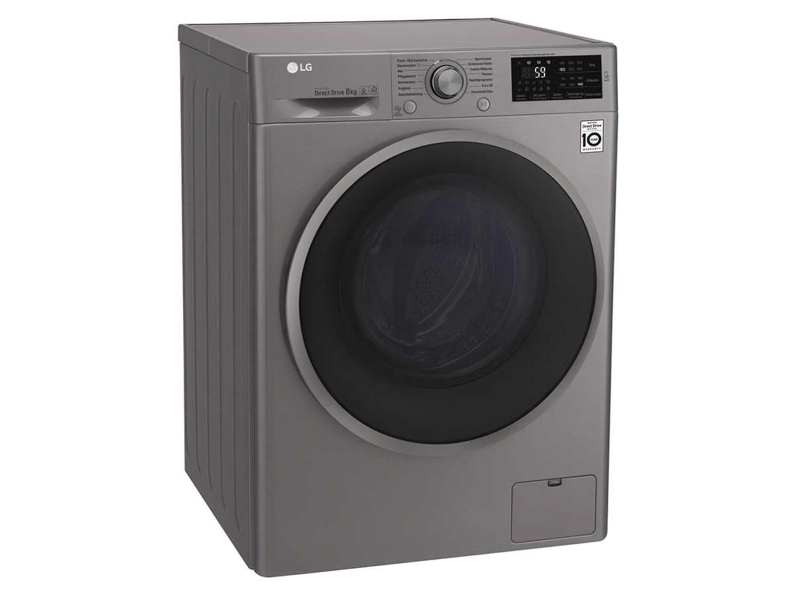 LG F 14WM 8TN4 Waschmaschine Stone Silver