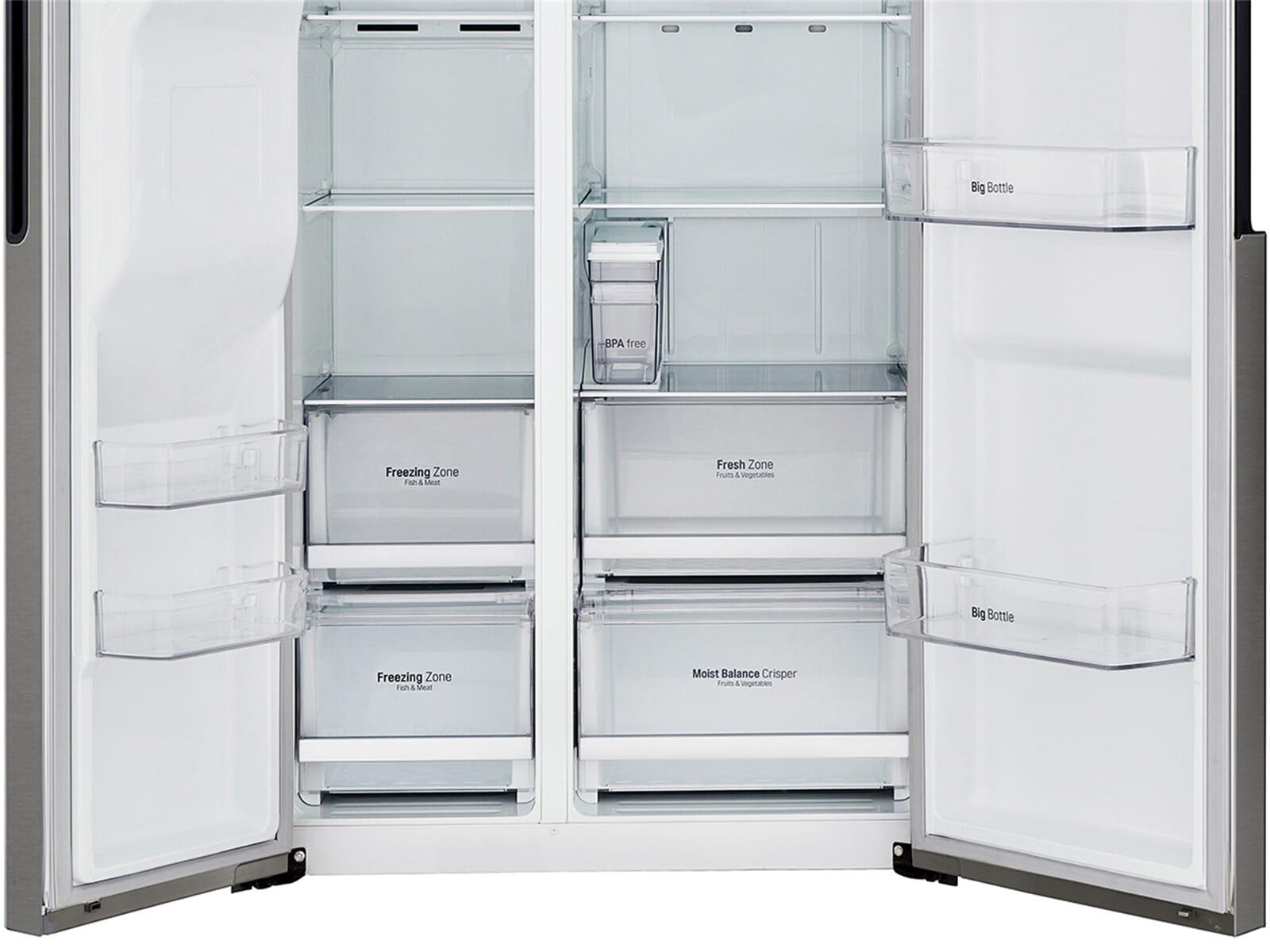 lg gsl 361 icez side by side k hl gefrier kombination dark. Black Bedroom Furniture Sets. Home Design Ideas
