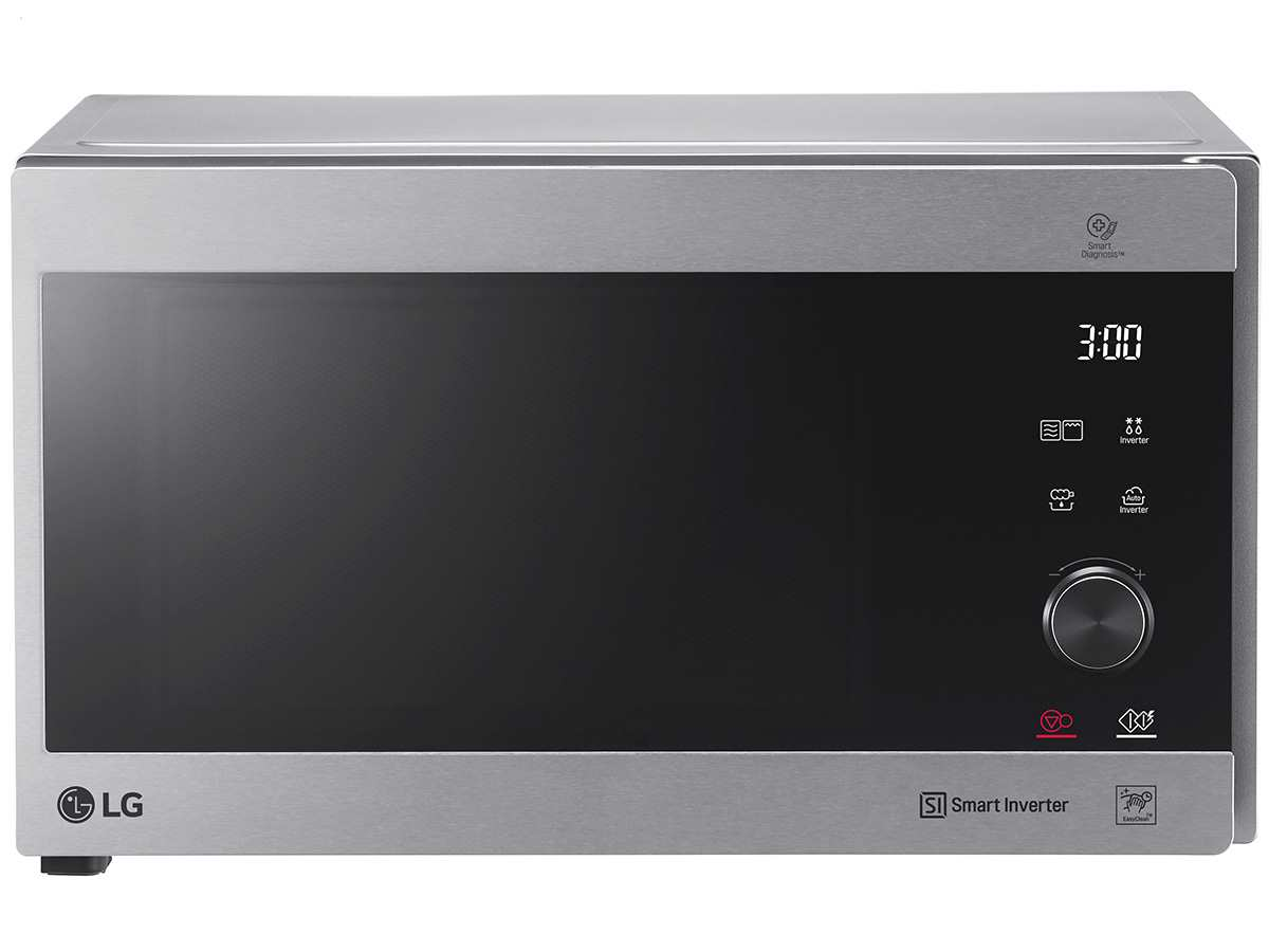 LG MJ 3965 ACS Stand-Mikrowelle mit Grill Edelstahl