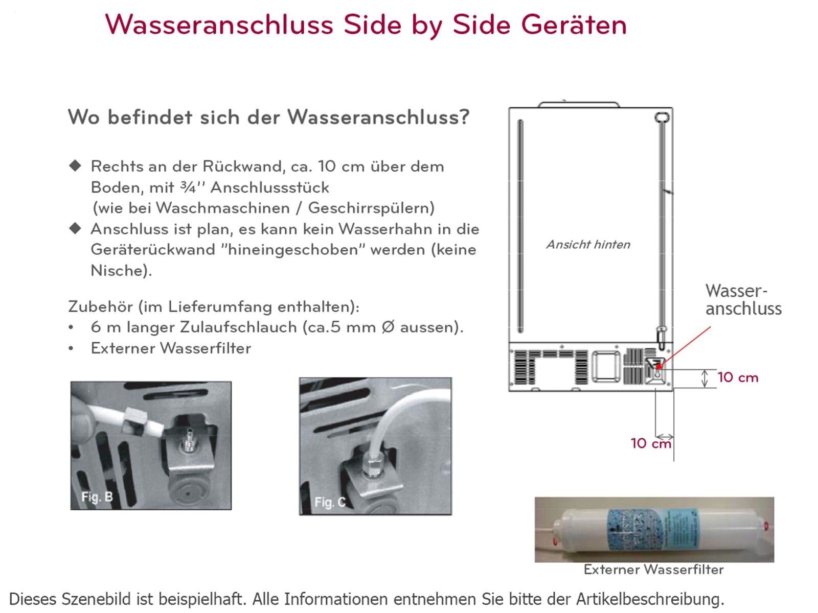 lg gsj 760 pzxz side by side k hl gefrier kombination steel. Black Bedroom Furniture Sets. Home Design Ideas