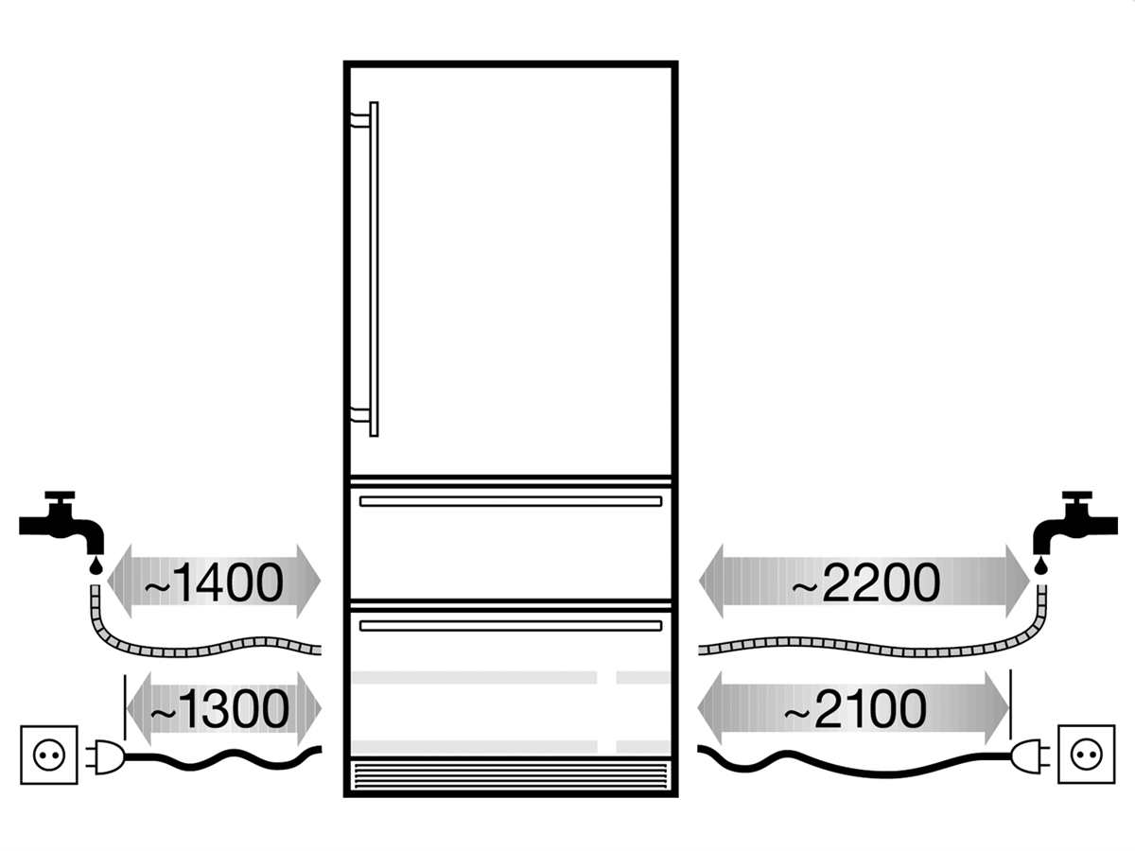 Liebherr ECBN 5066 PremiumPlus Rechtsanschlag Einbau-Kühl-Gefrierkombination A++