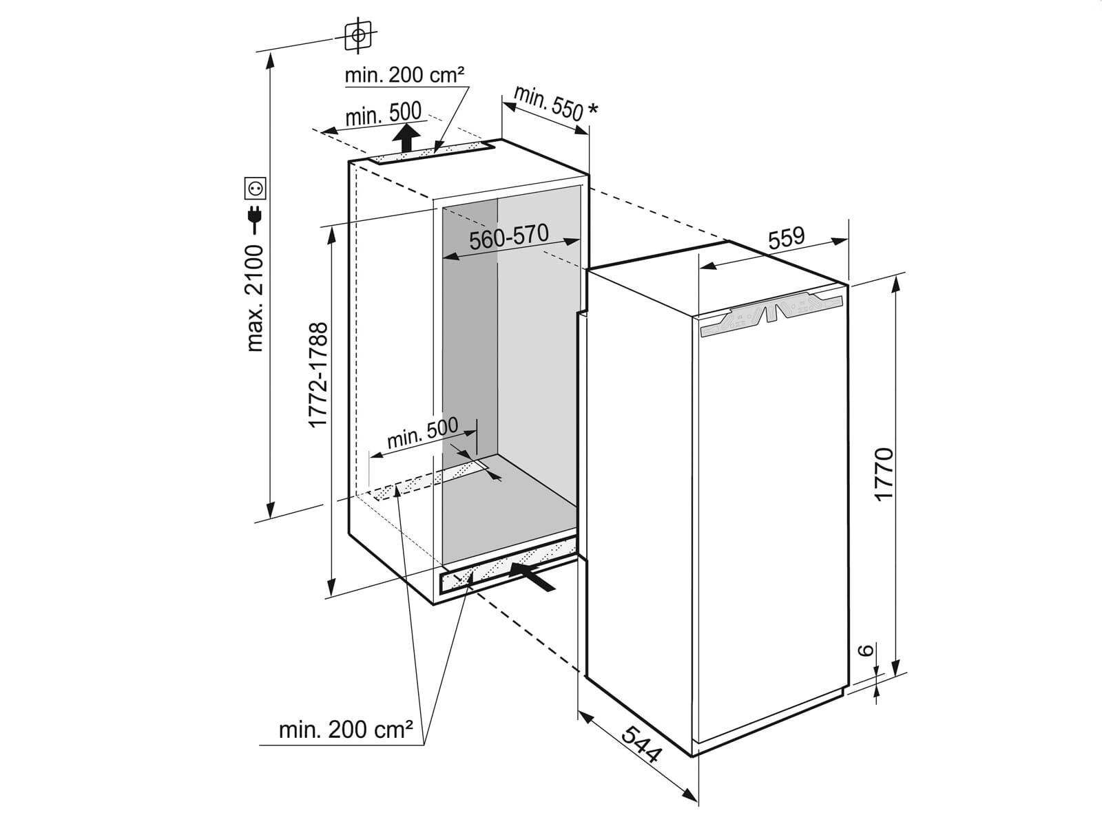 Liebherr IKBP 3564 Premium BioFresh Einbaukühlschrank mit Gefrierfach A+++