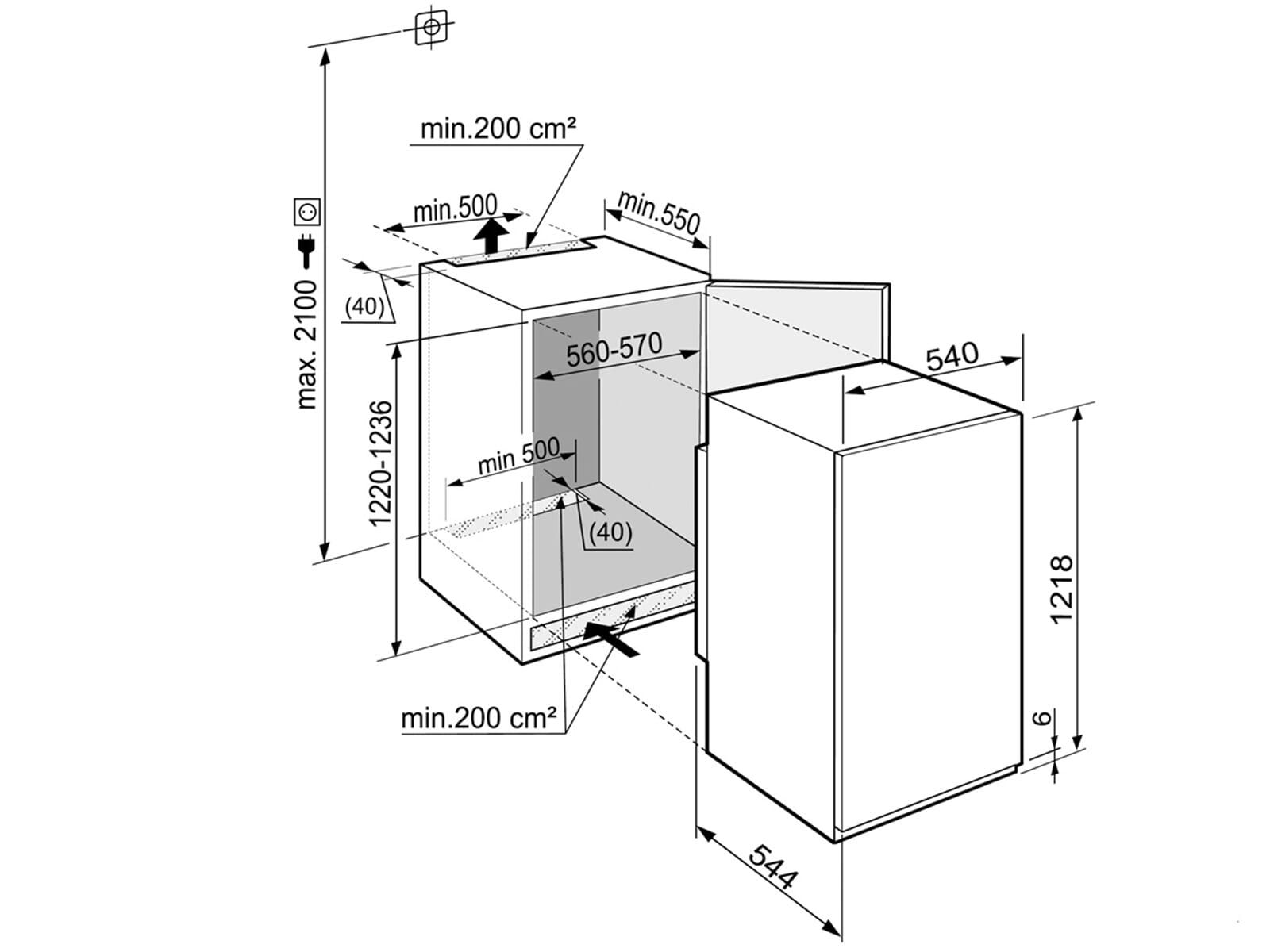 Liebherr IKS2310 Comfort Einbaukühlschrank