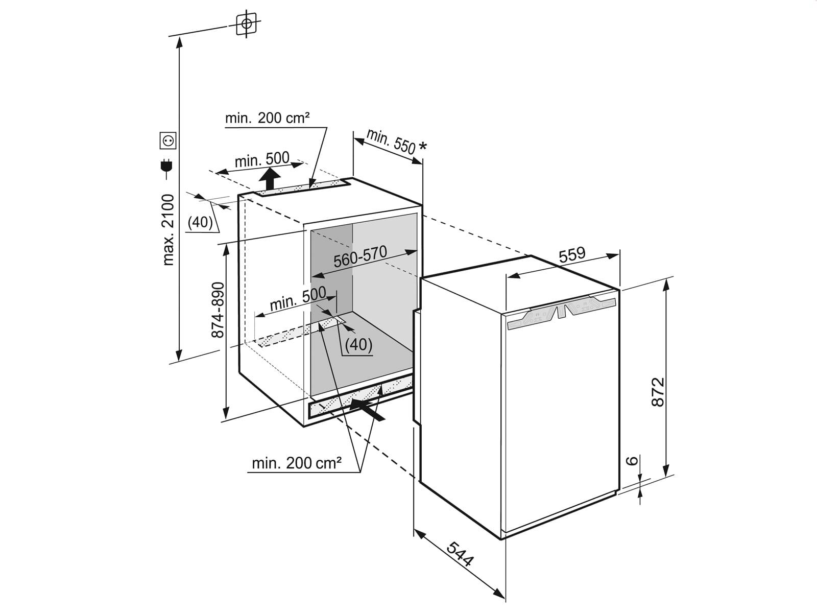 Liebherr SIBP 1650 Premium BioFresh Einbaukühlschrank A+++