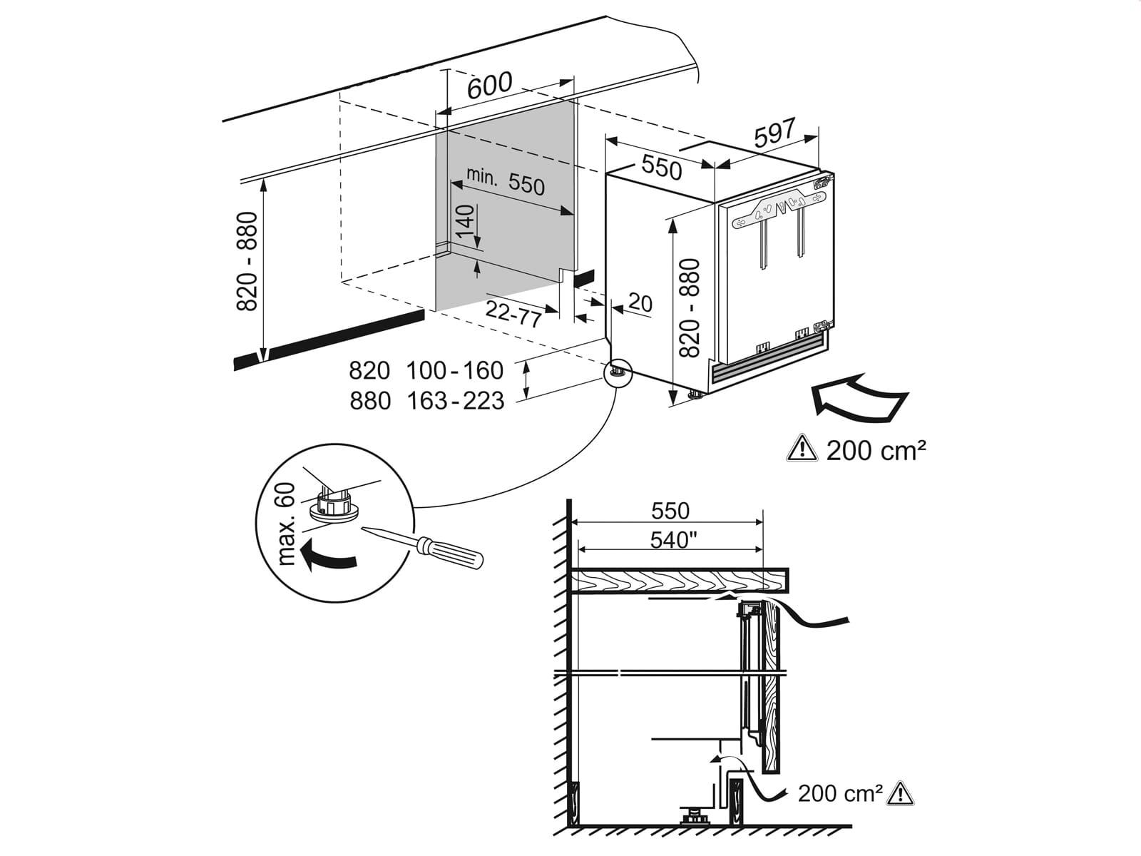 Liebherr UIK 1514 Comfort Unterbaukühlschrank A++