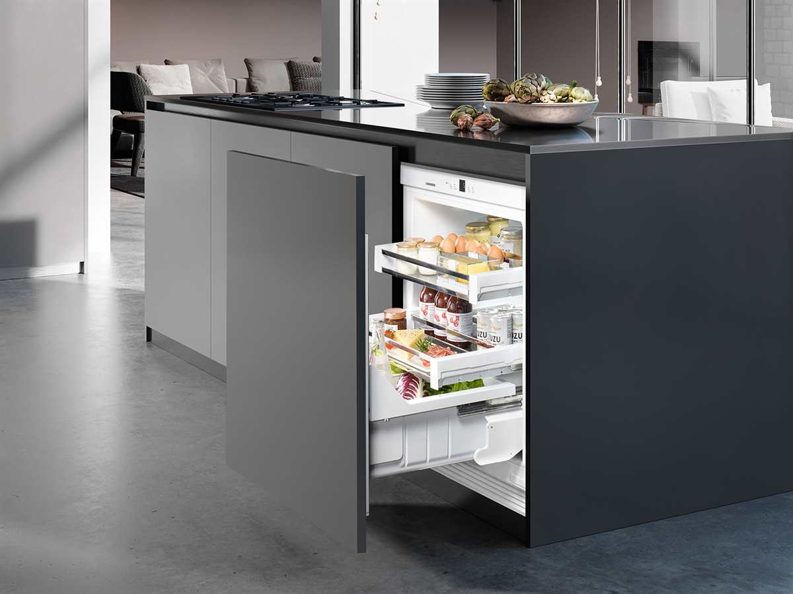 liebherr uiko 1550 premium unterbauk hlschrank mit auszugswagen a. Black Bedroom Furniture Sets. Home Design Ideas