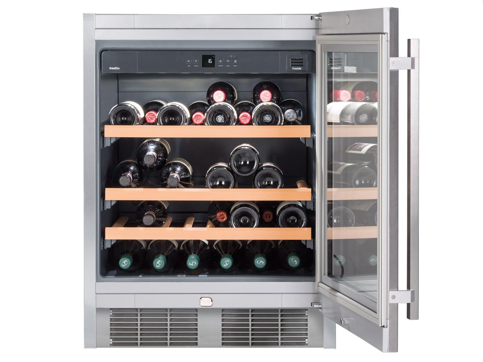 Liebherr UWKes 1752 GrandCru Unterbau Weintemperierschrank für 46 Flaschen Energieeffizienzklasse A