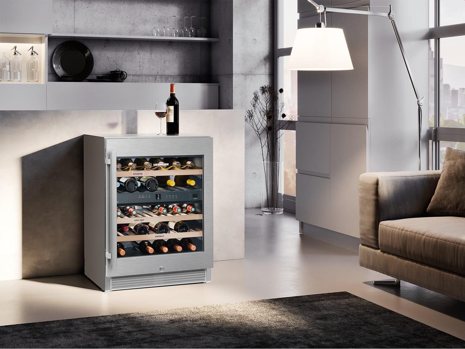 Liebherr WTes 1672 Vinidor Stand Weintemperierschrank für 34 Flaschen Energieeffizienzklasse A