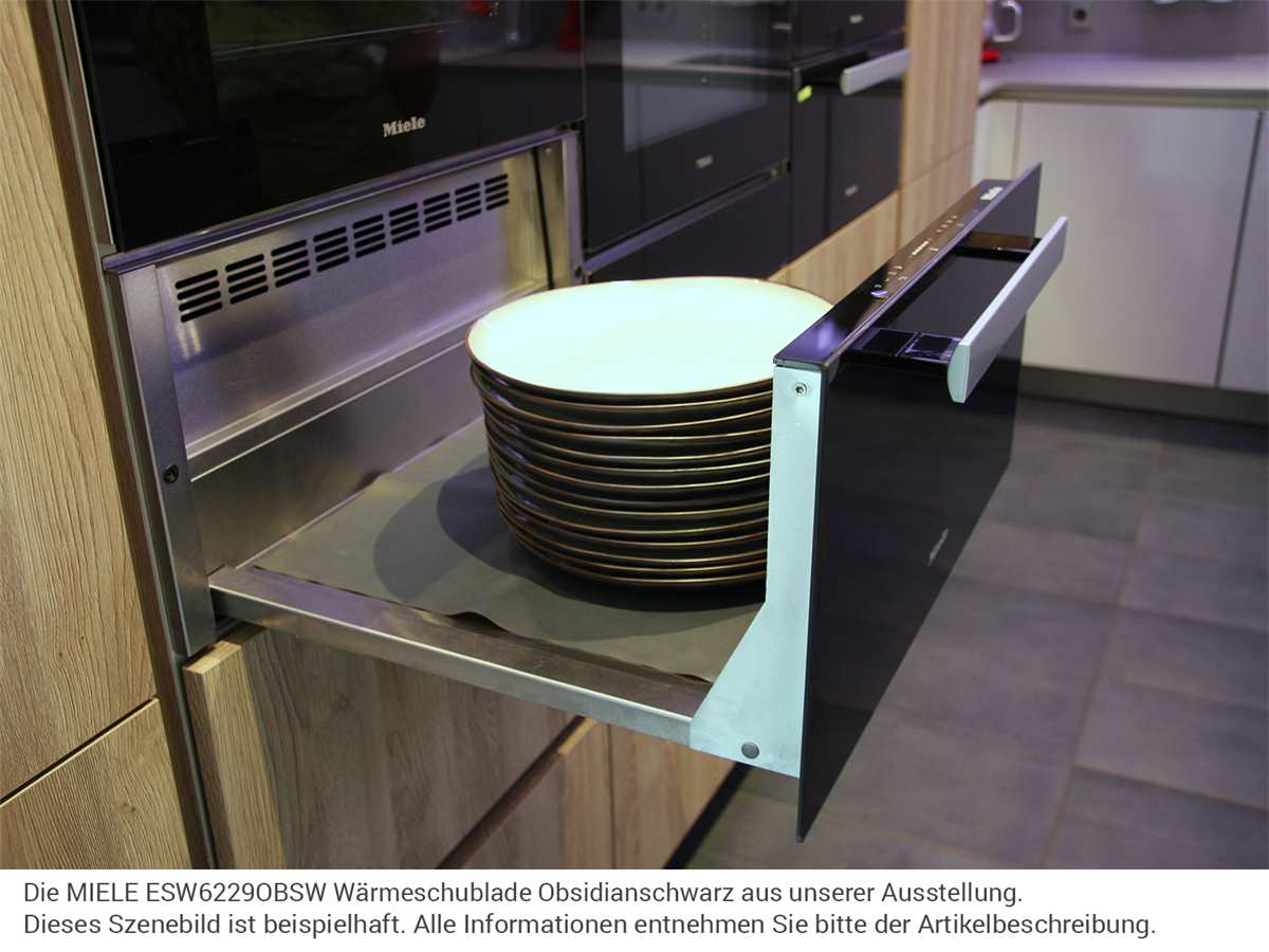 MIELE ESW6229OBSW Wärmeschublade Obsidianschwarz - Ausstellungsstück