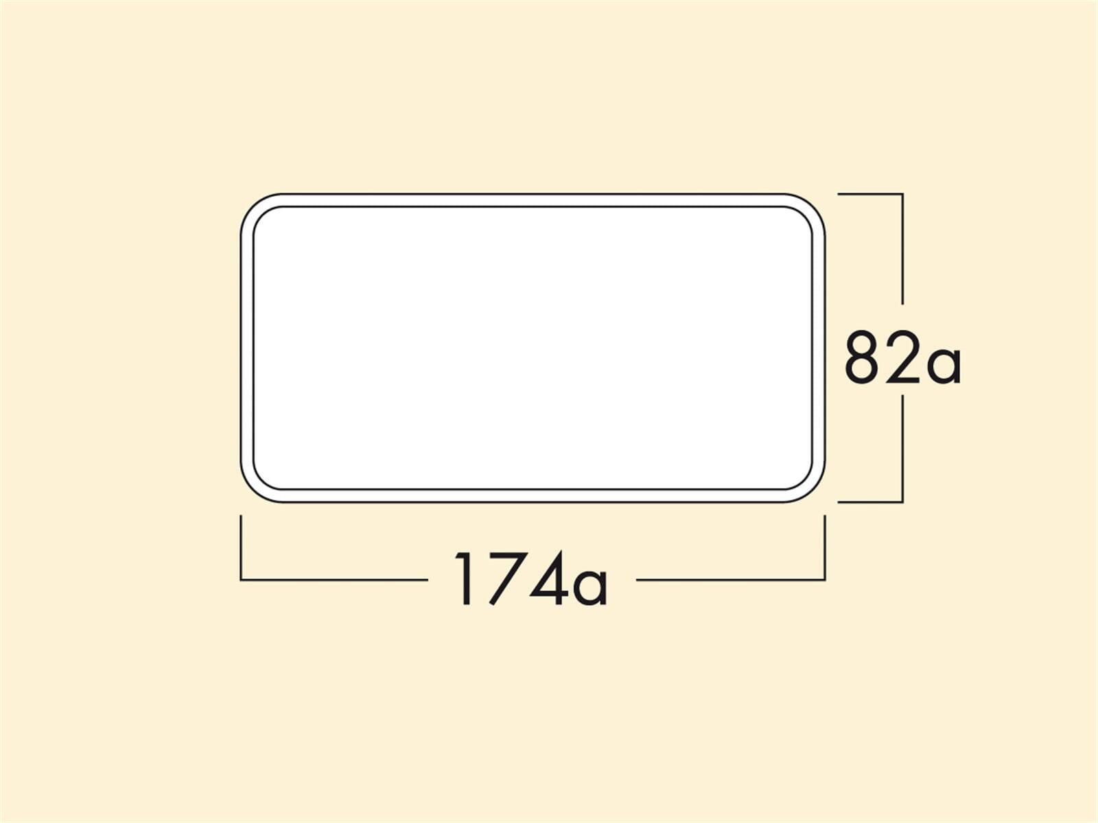 Compair 403.3.004 MF-VRM 1000 Flachkanalrohr mit Muffe