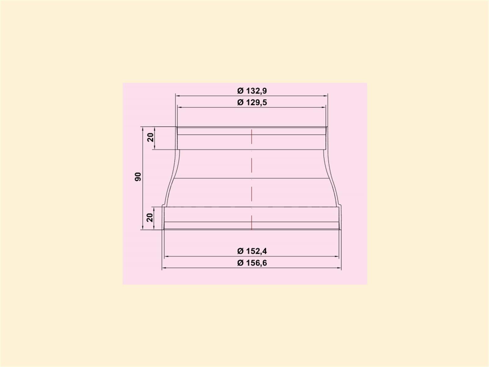 Compair 401.1.048 RDZ 125//150 Flow Reduzierst/ück