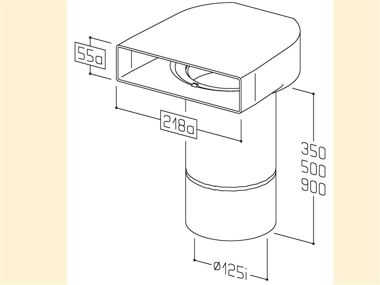 Compair 402.1.019 T-UR Umlenkstück mit Rundrohr