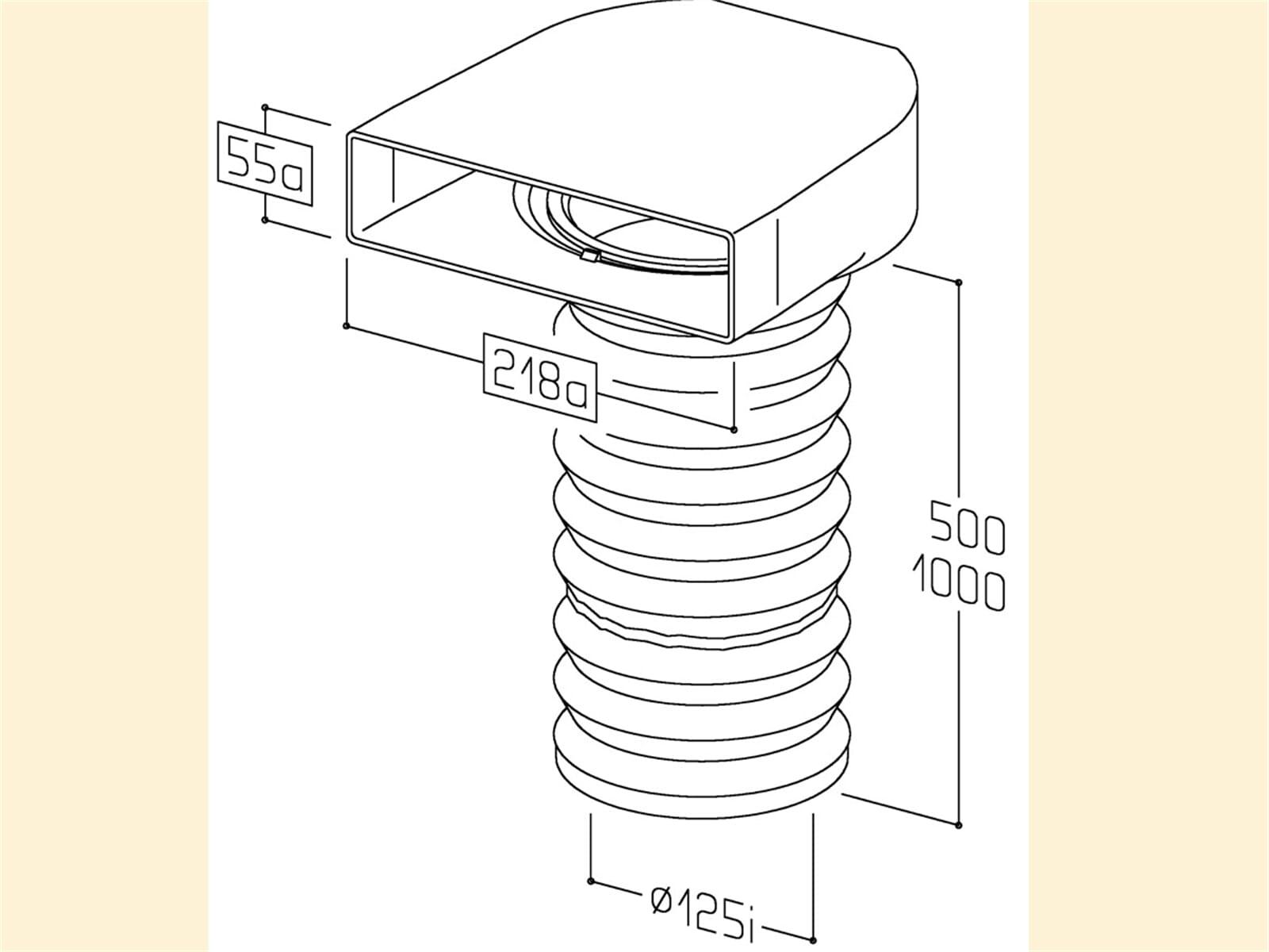 Compair 402.1.025 T-URX Umlenkstück 90° mit Flexschlauch