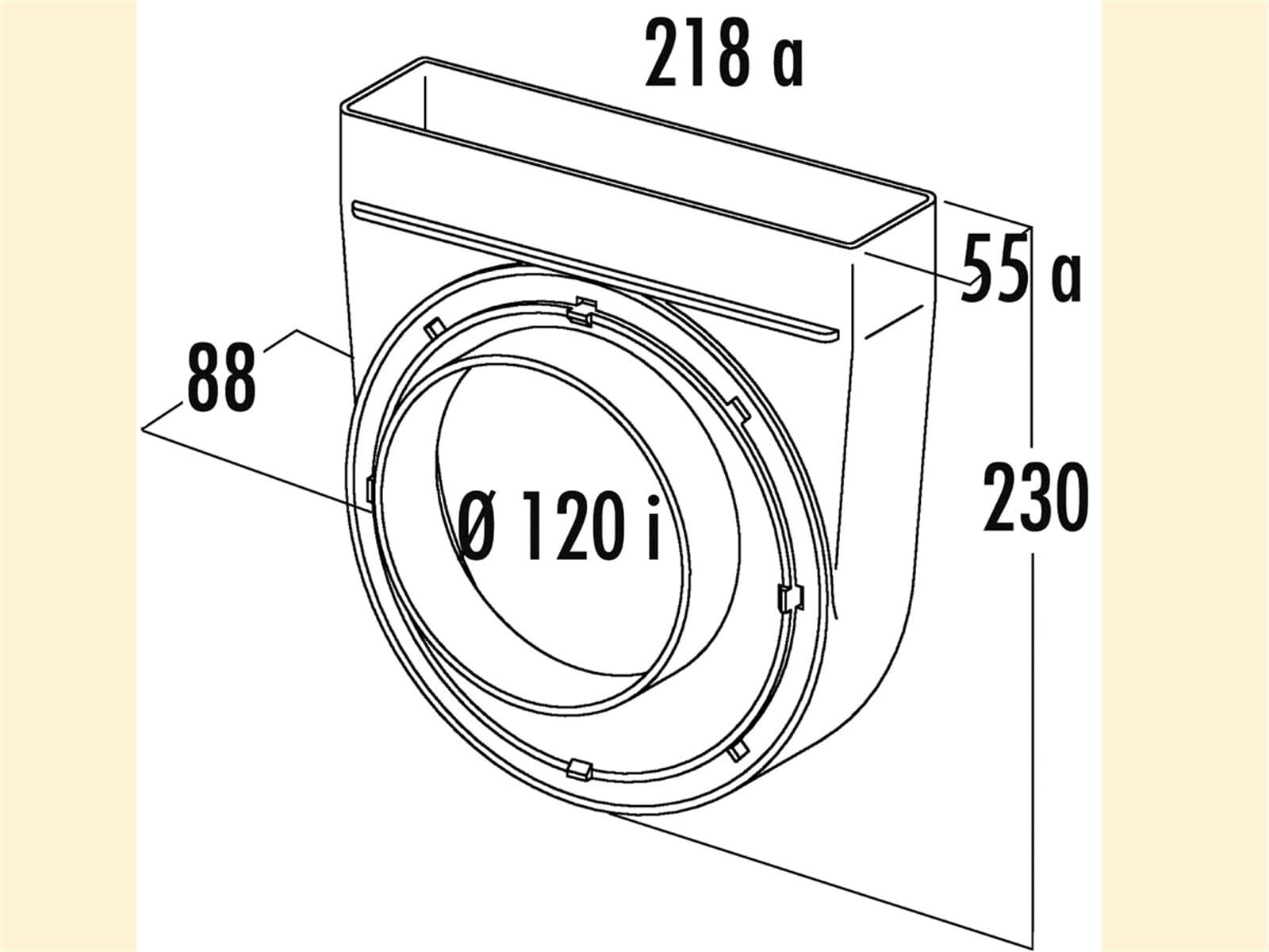 Compair 402.1.086 T-UR-EX Umlenkstück 90°, exzentrisch