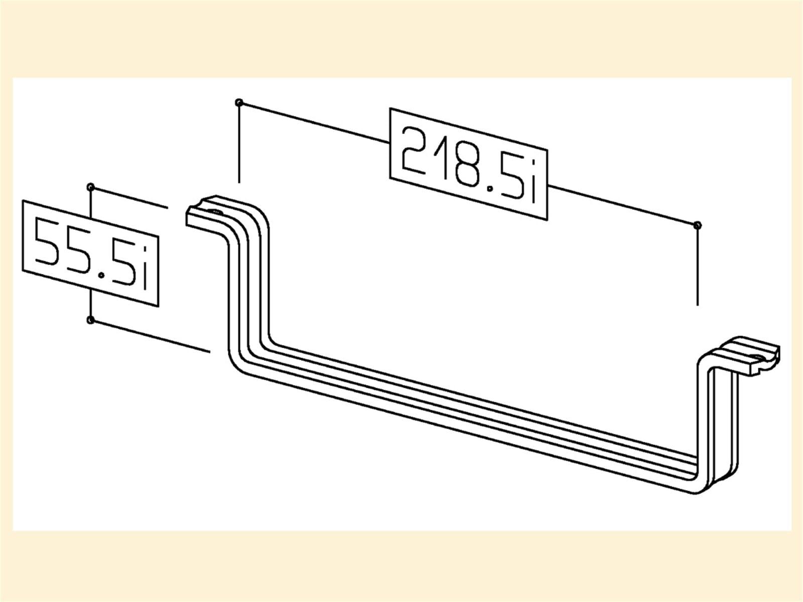 Compair 402.1.130 T-RSS Flachkanalhalterung