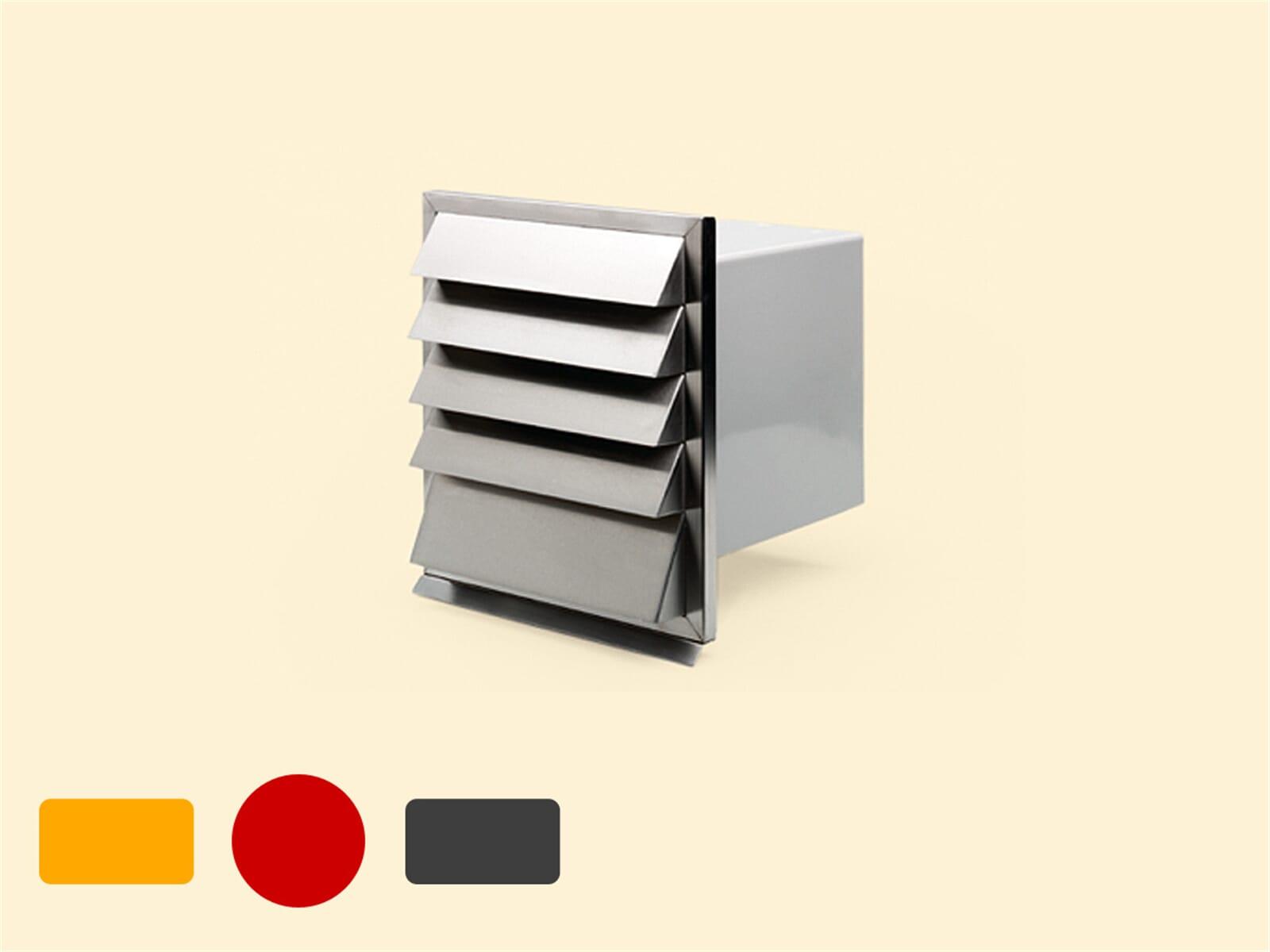 Compair 402.2.026 V-Klima A/Z Ab- und Zuluft-Mauerkasten 1